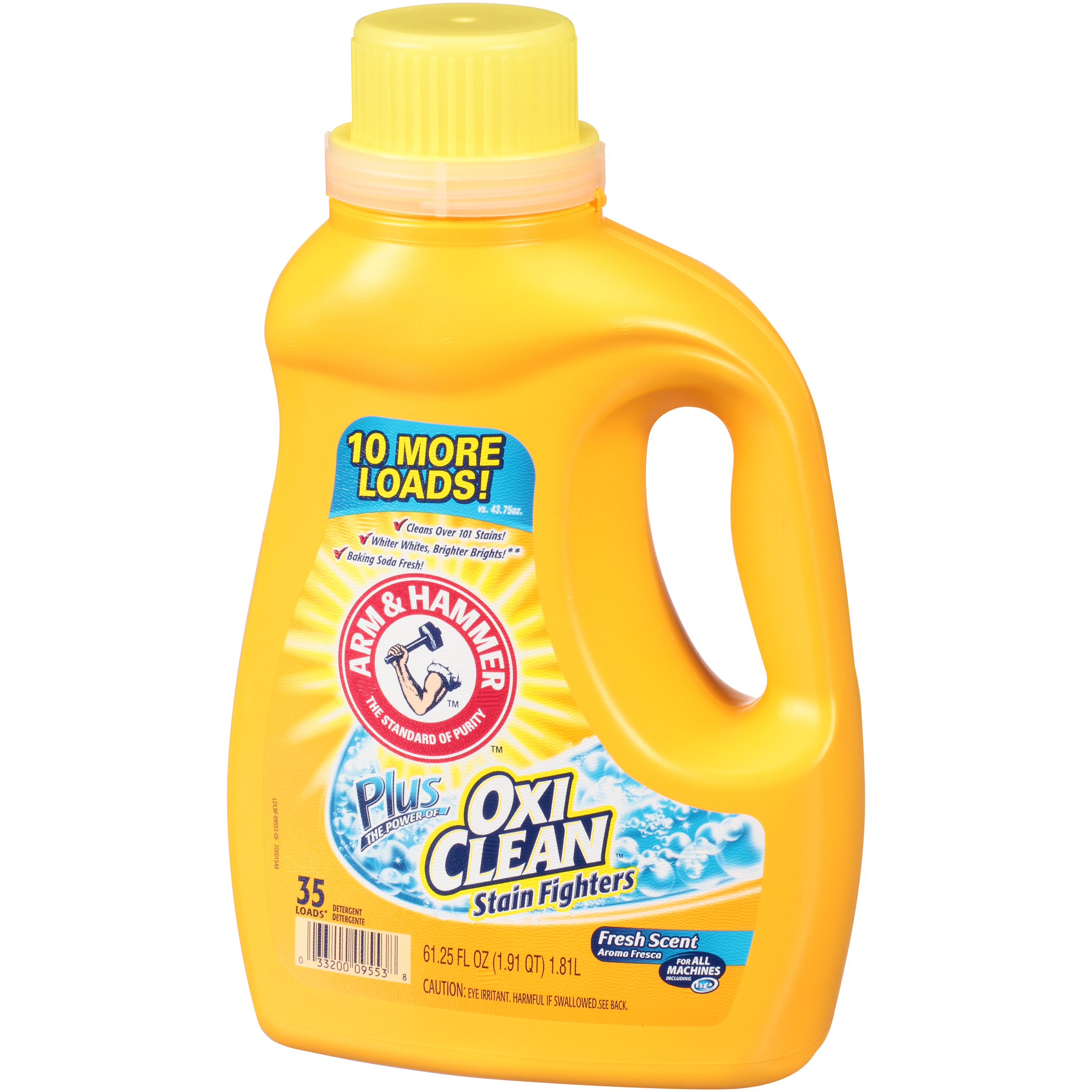 Arm & Hammer Plus OxiClean Stain Fighters Fresh Scent Liquid Laundry Detergent 61.25 FL OZ PLASTIC JUG