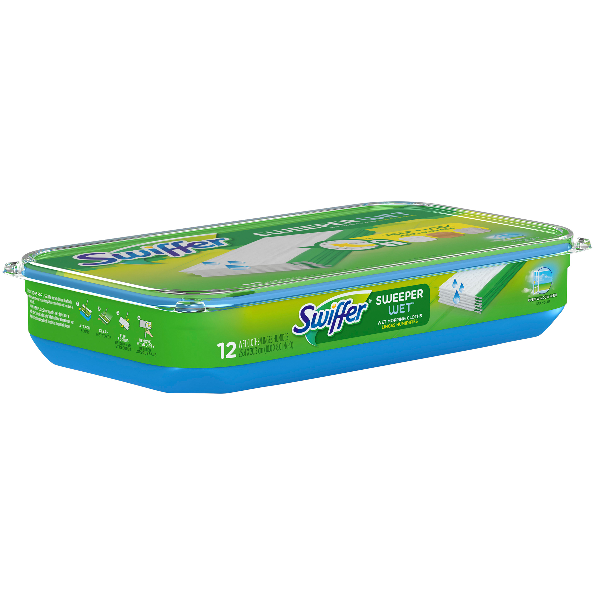 Swiffer SWFR Wet Cloth OWF 6/12ct Surface Care 12 CT TUB