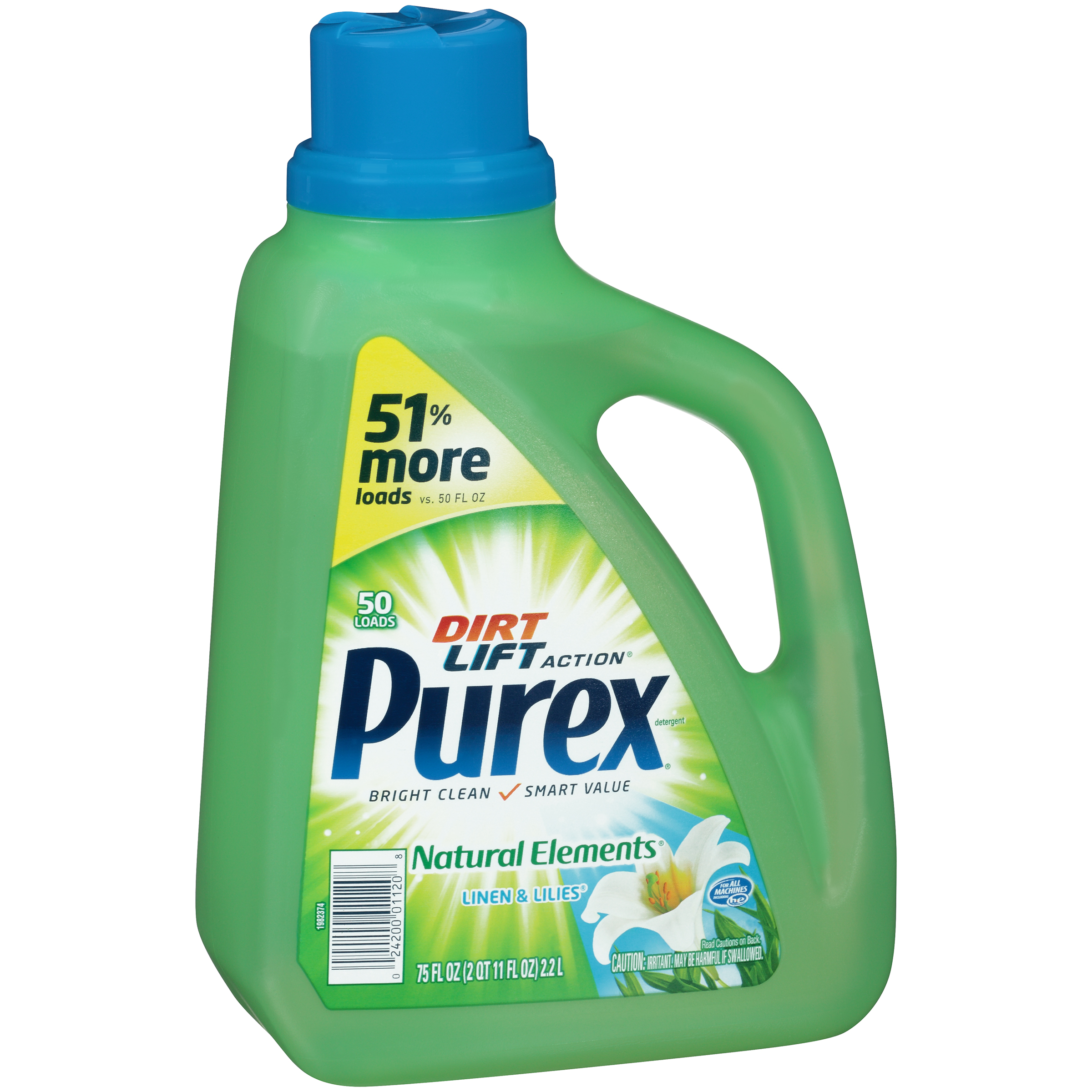 PUREX Natural Elements Linen & Lilies Laundry Detergent 75 FL OZ JUG