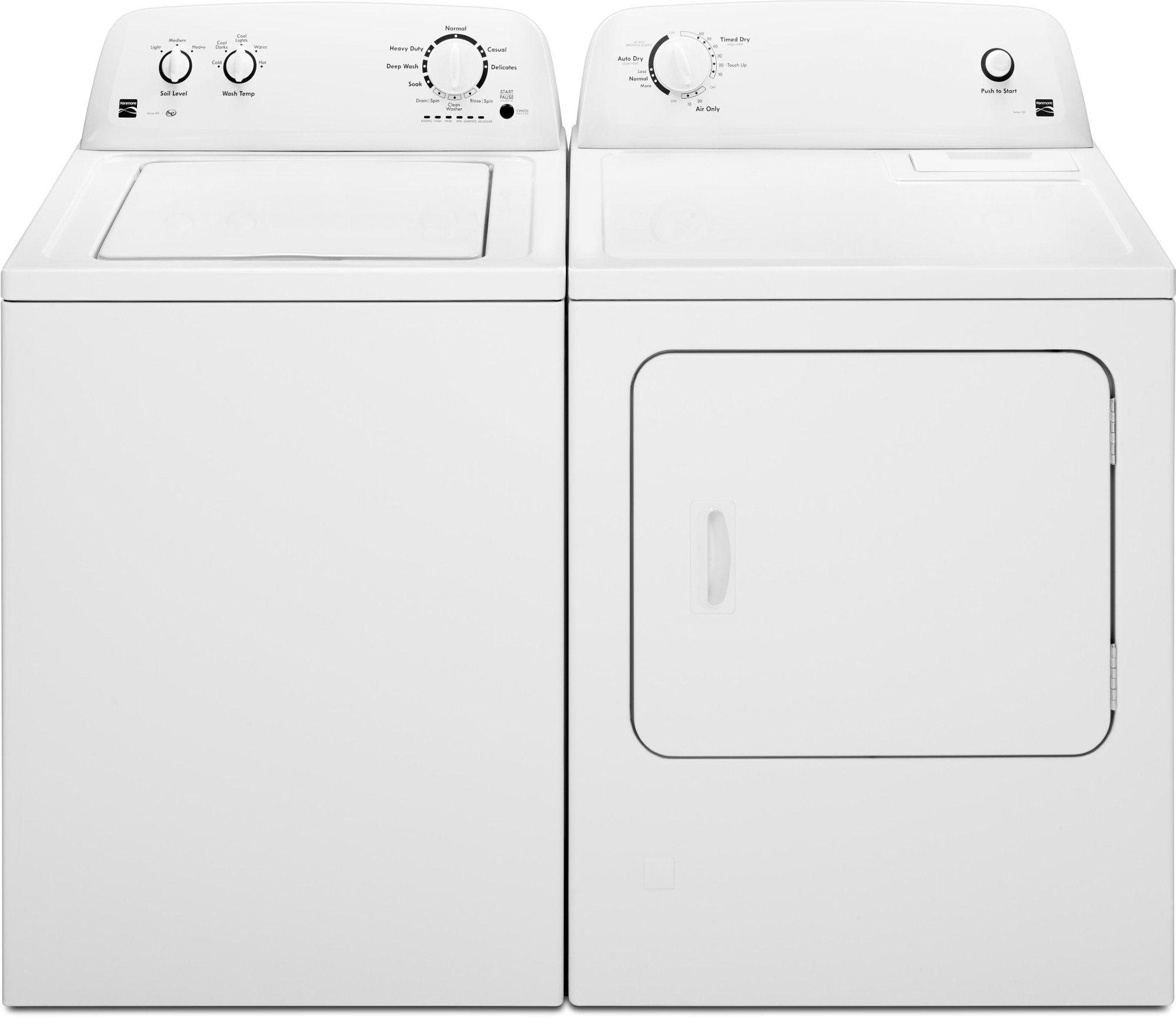 3.3 cu. ft. Top Load Washer & 6.5 cu. ft. Dryer Bundle - White