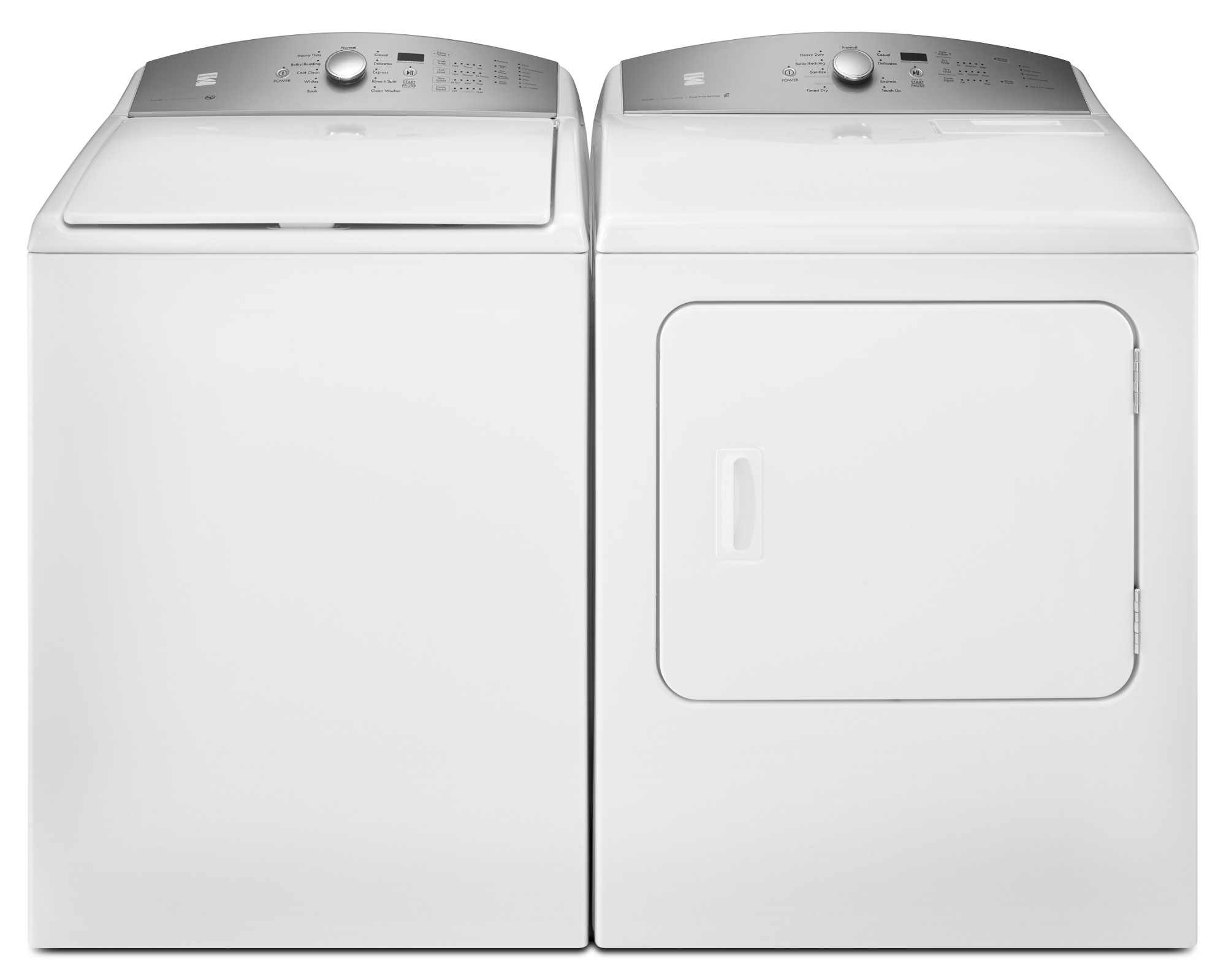 sc 1 st  Sears Hardware Stores & Kenmore 4.8 cu. ft. Top Load Washer u0026 7.0 cu. ft. Dryer - White pezcame.com