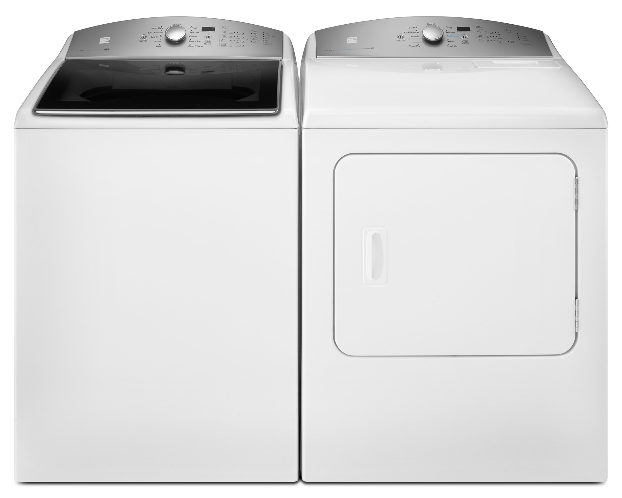 4.8 cu. ft. Top Load Washer & 7.0 cu. ft. Dryer - White