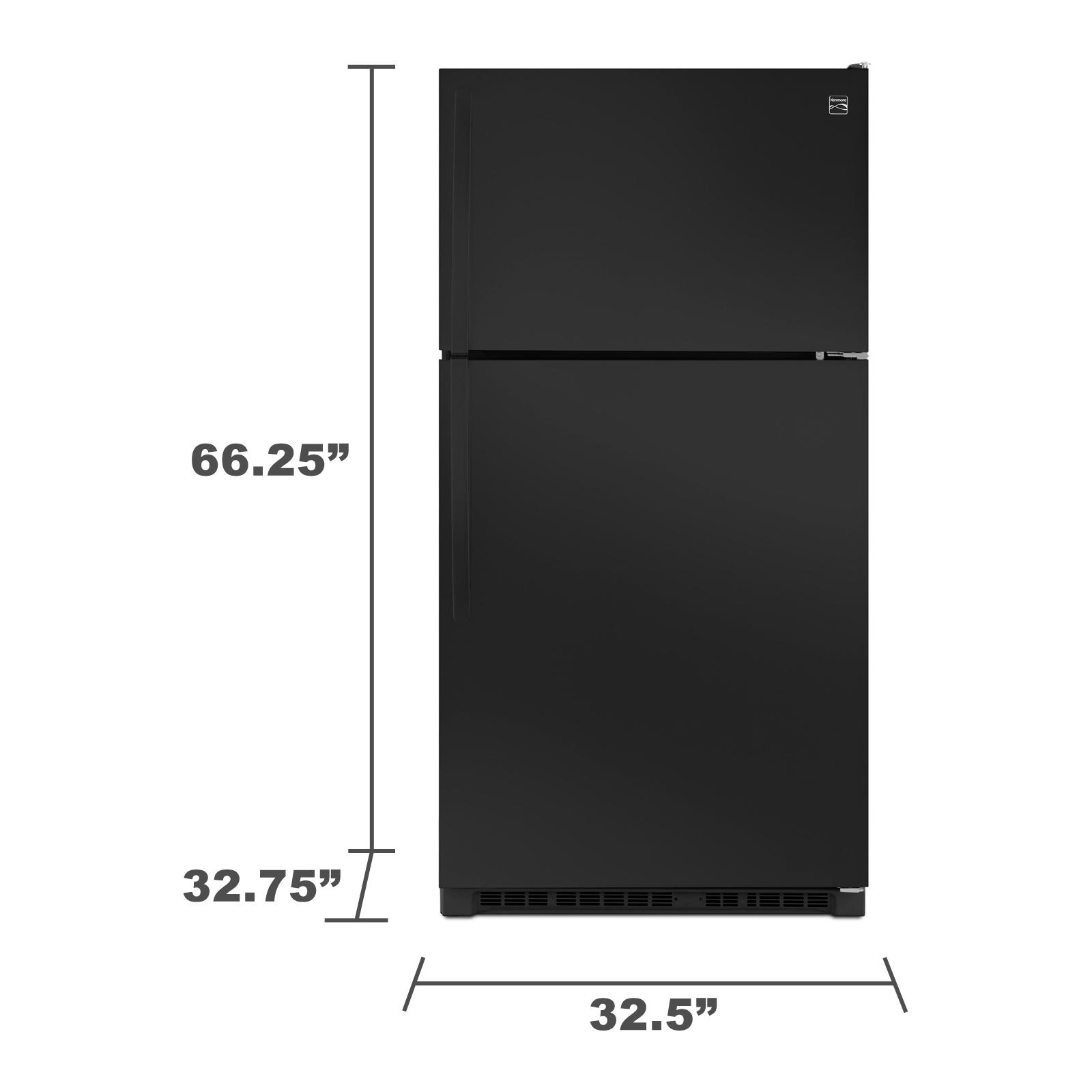 Kenmore 60219 20.5 cu. ft. Top Freezer Refrigerator w/ Humidity-Controlled Crispers - Black