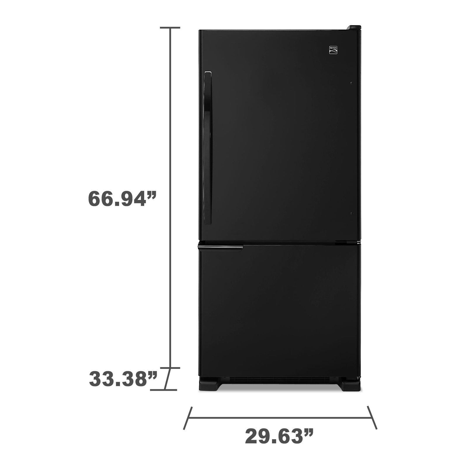 Kenmore 69319 19 cu. ft. Bottom-Freezer Refrigerator - Black