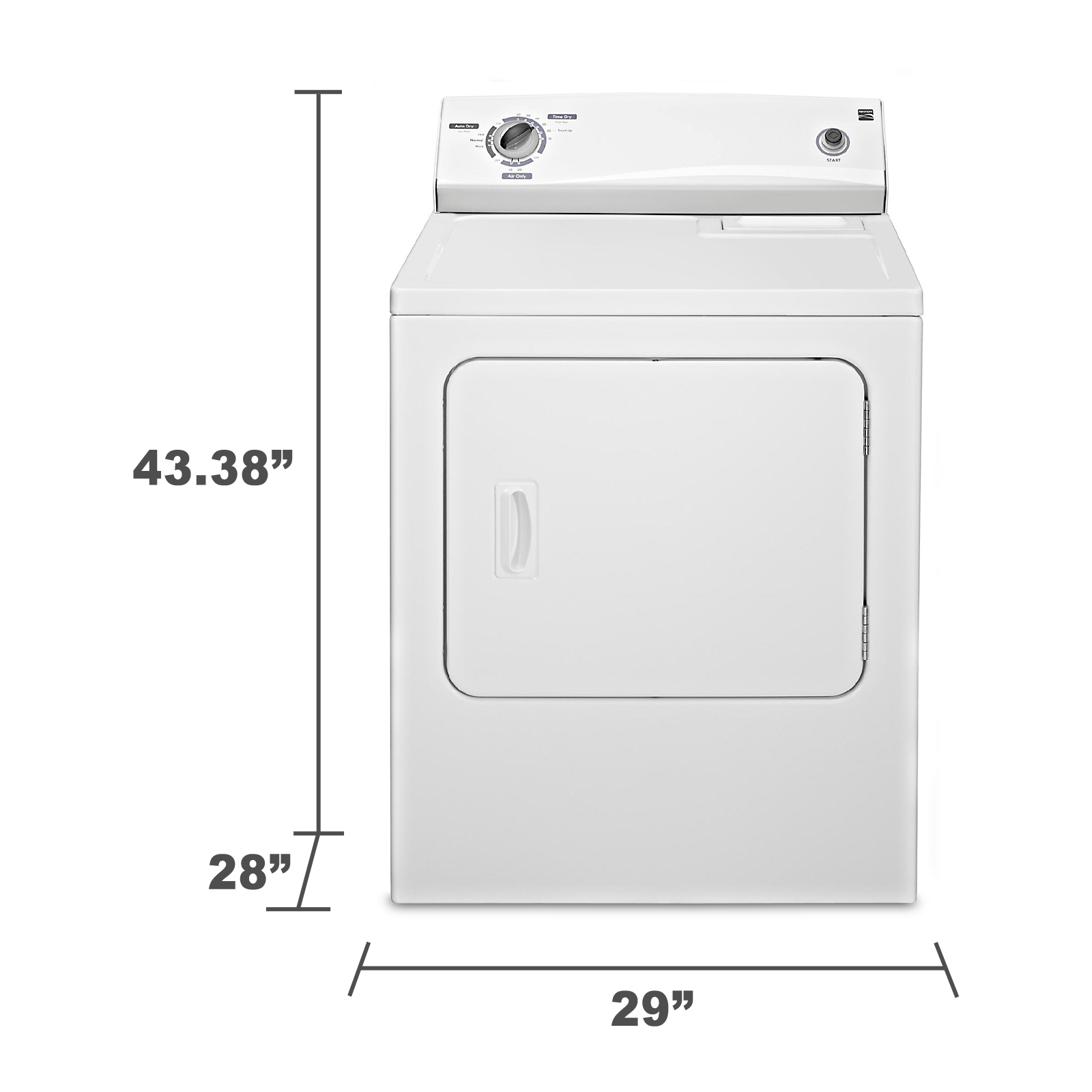 Kenmore 6.5 cu. ft. Gas Dryer - White