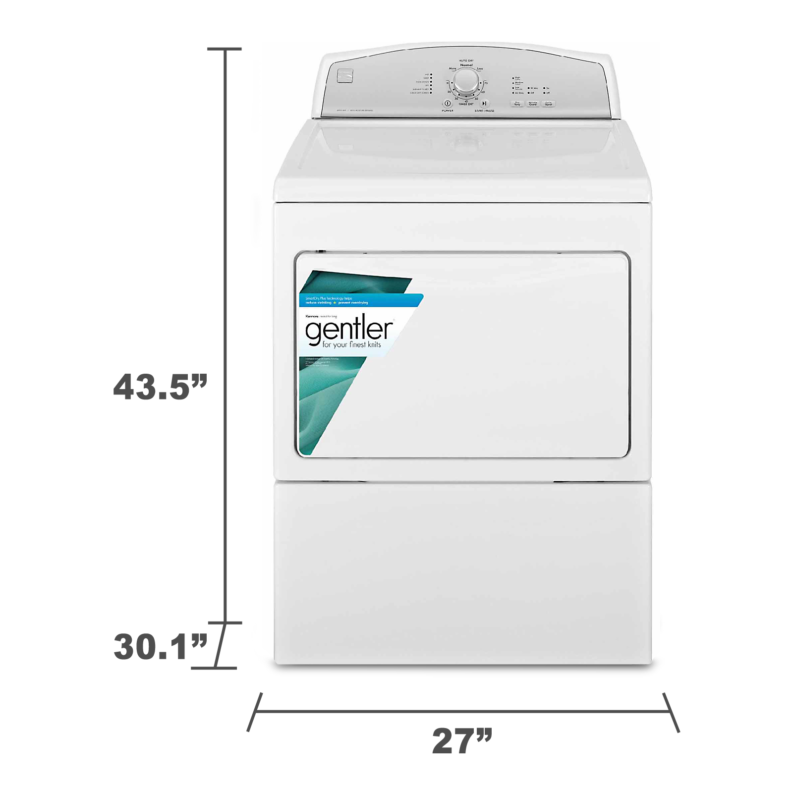 Kenmore 7.5 cu. ft. Gas Dryer w/ Heated Dryer Rack - White