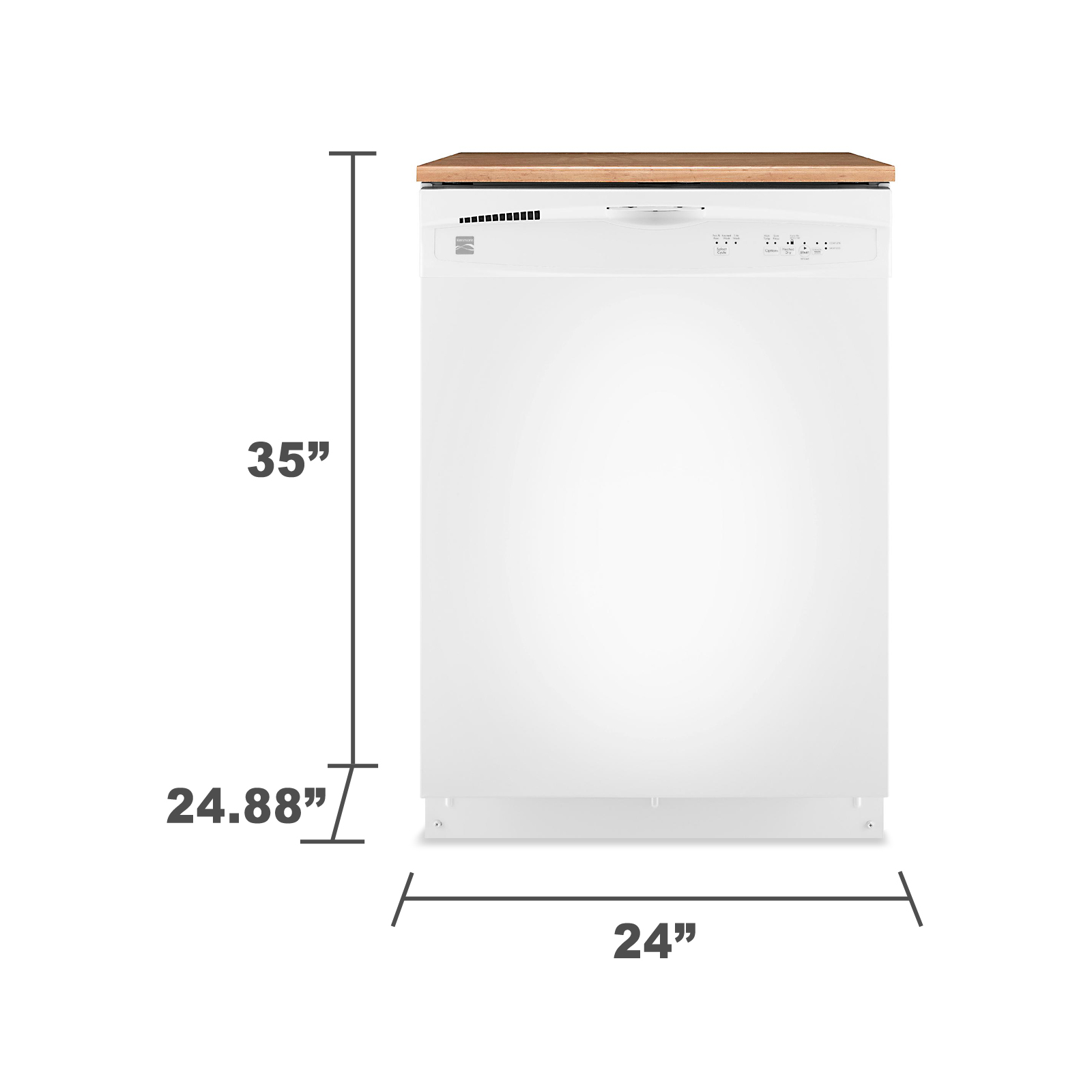"Kenmore 24"" Portable Dishwasher - White"
