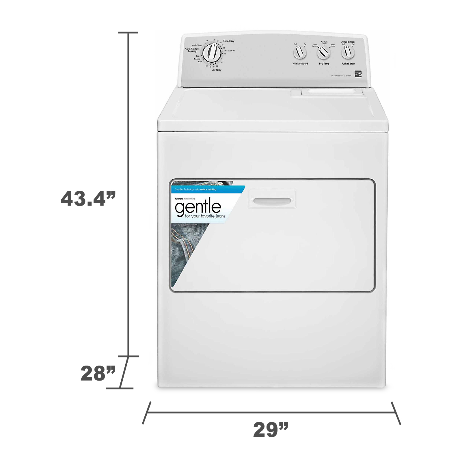 Kenmore 7.0 cu. ft. Gas Dryer w/ SmartDry™ - White