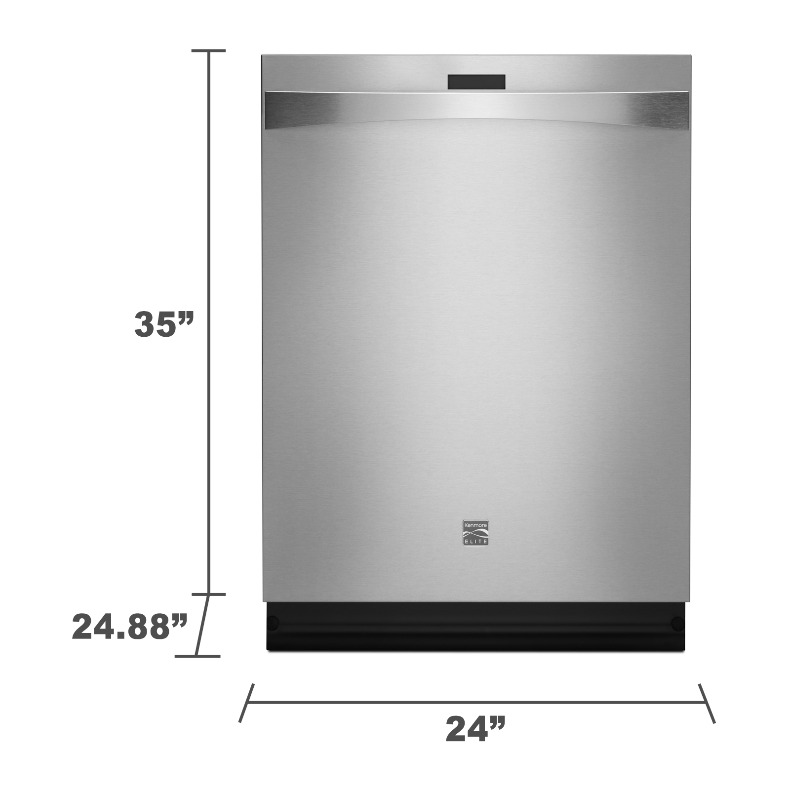 "Kenmore Elite 12793 24"" Built-In Dishwasher - Stainless Steel"