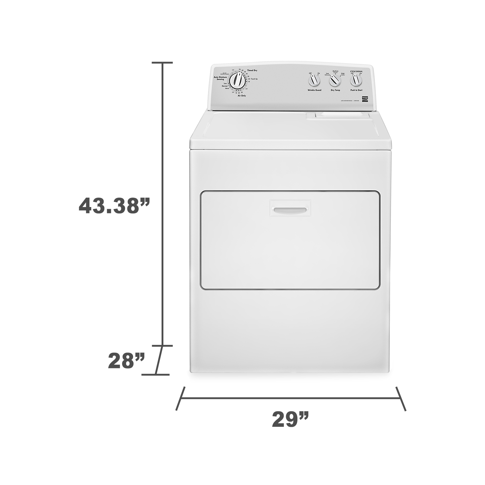 Kenmore 7.0 cu. ft. Electric Dryer w/ SmartDry™ - White
