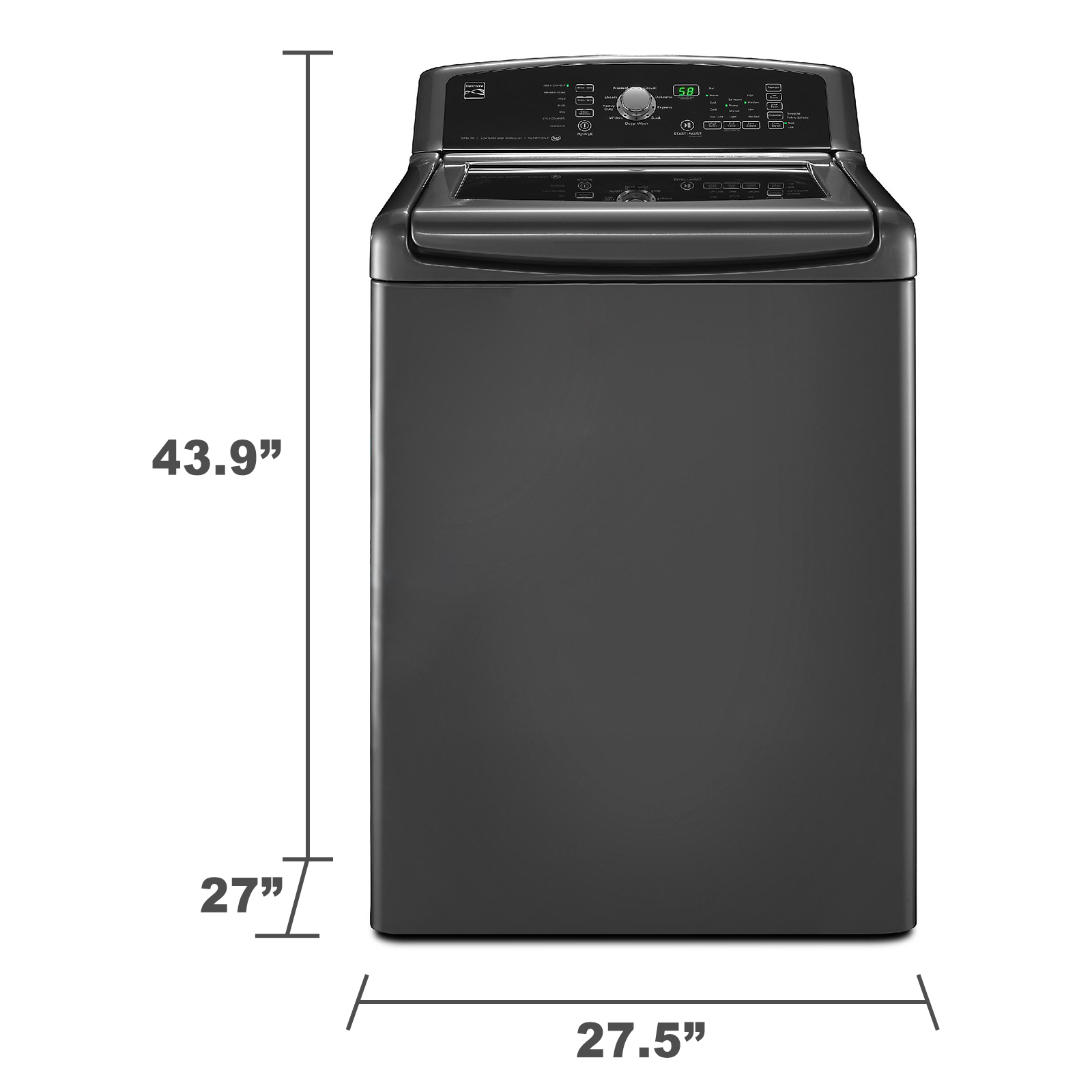 Kenmore 28103 4.5 cu. ft. High-Efficiency Top-Load Washer w/ Express Cycle - Metallic