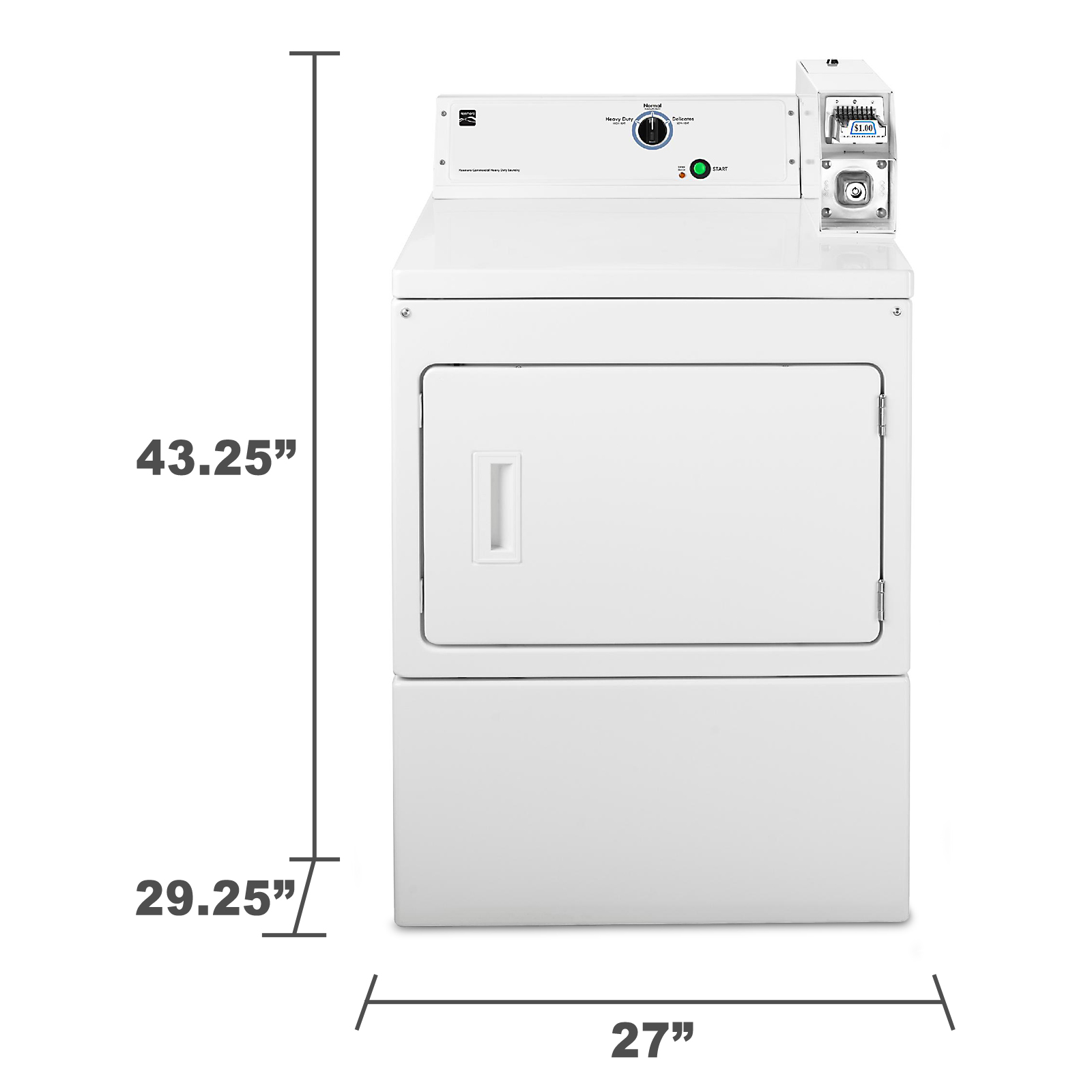 Kenmore 77122 7.4 cu. ft. Coin-Operated Gas Dryer - White 77122