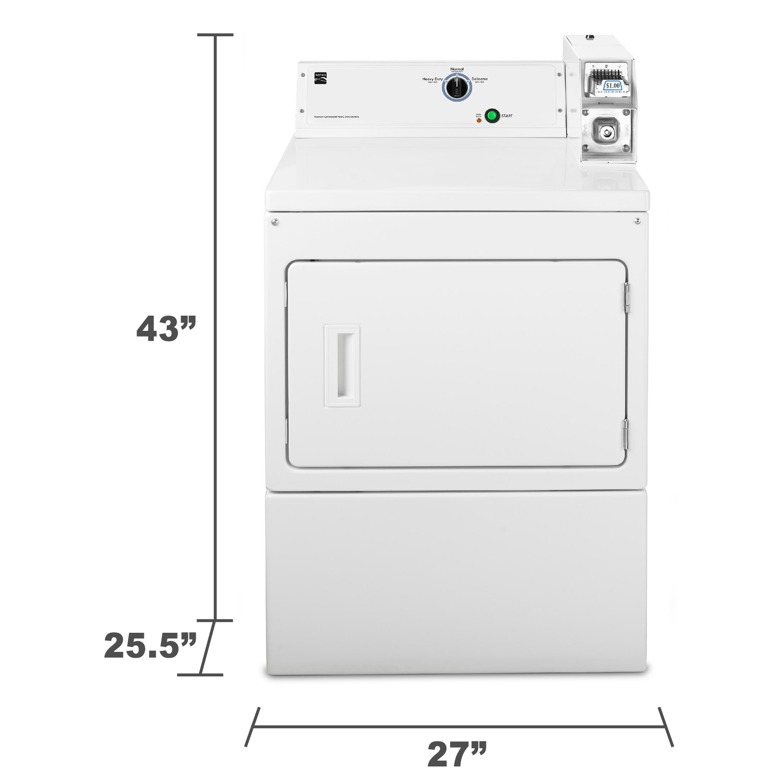 Kenmore 67122 7.4 cu. ft. Coin-Operated Electric Dryer - White 67122