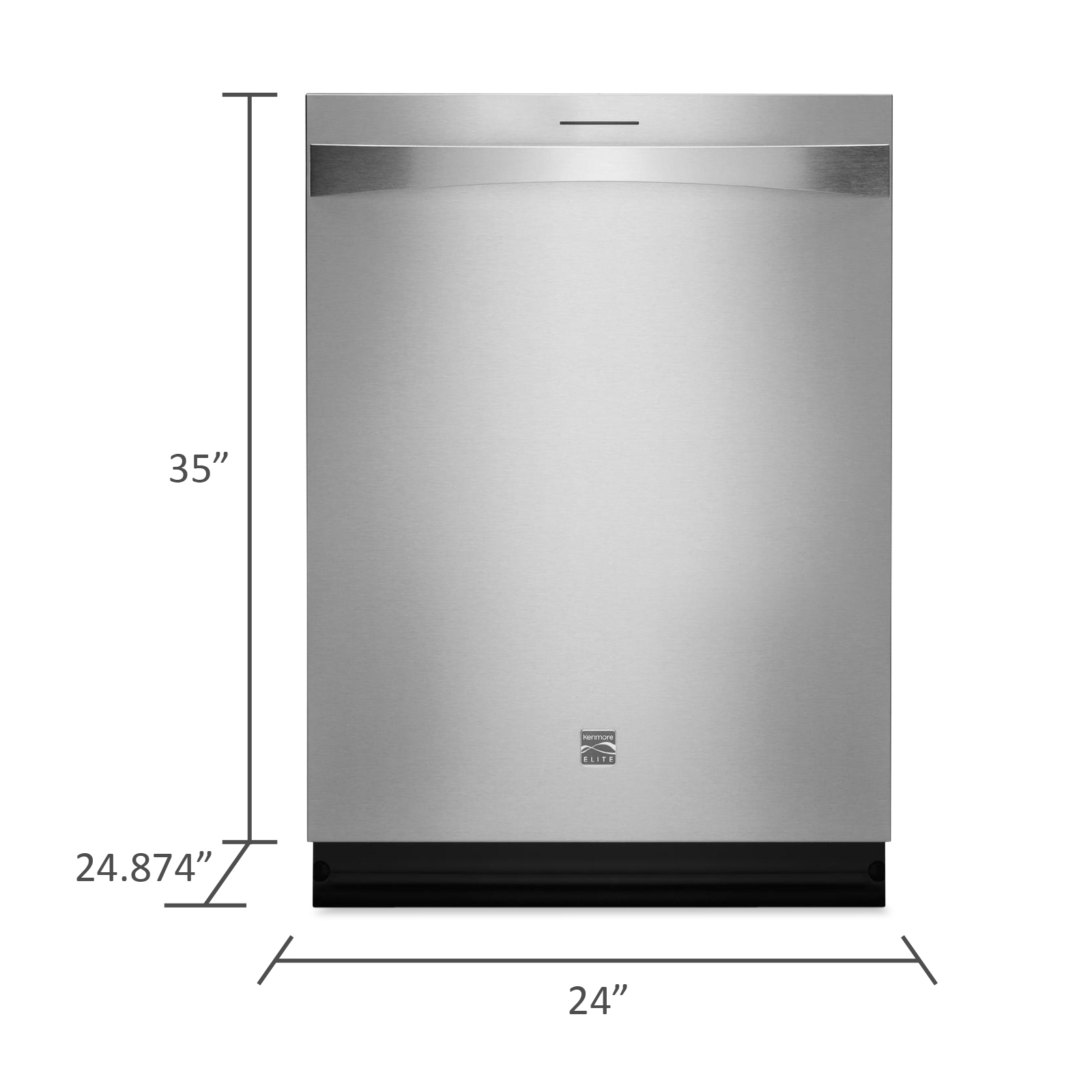 "Kenmore Elite 24"" Built-In Dishwasher - Stainless Steel"