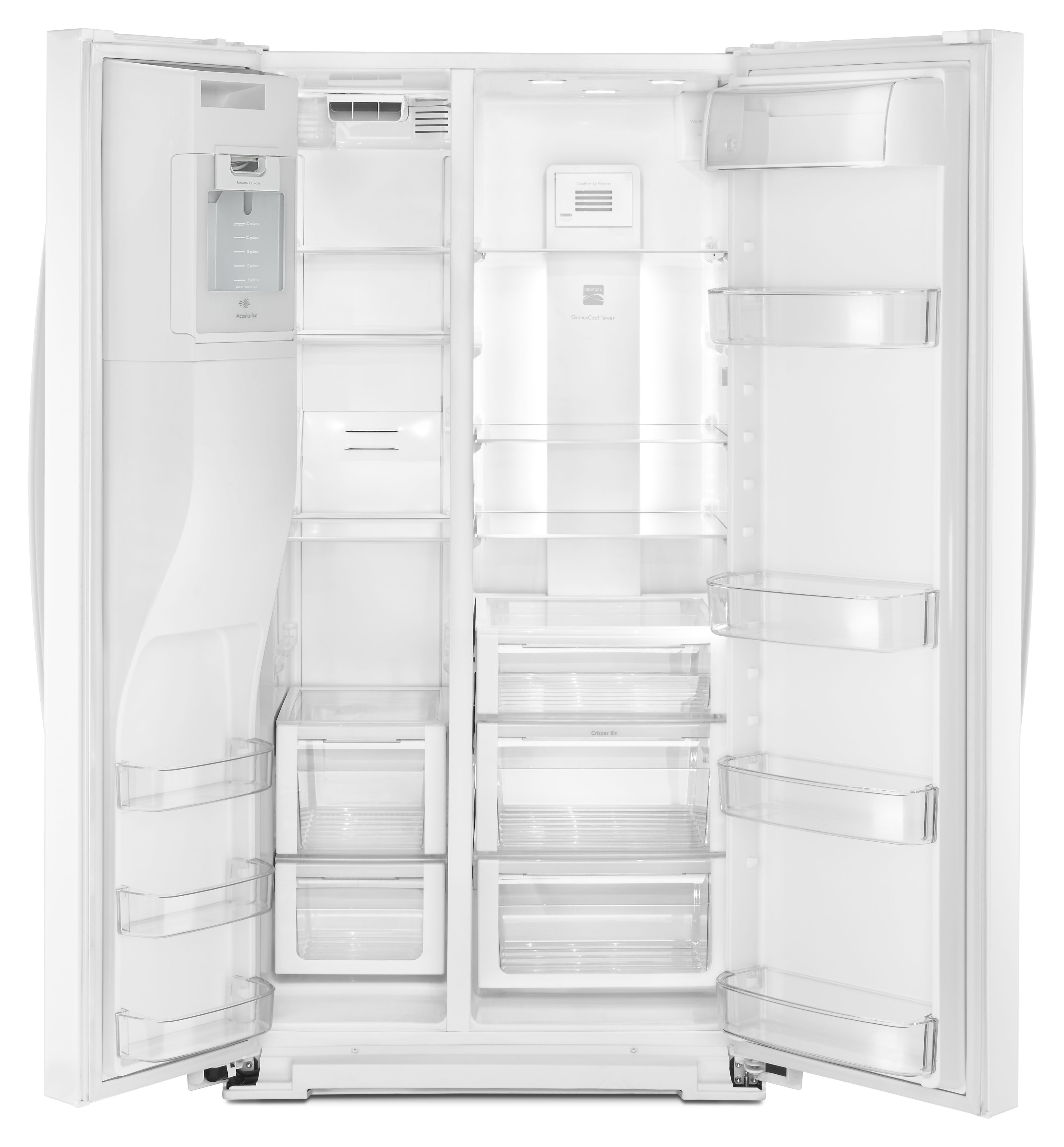 Kenmore 51762 25 cu. ft. Side-by-Side Refrigerator - White