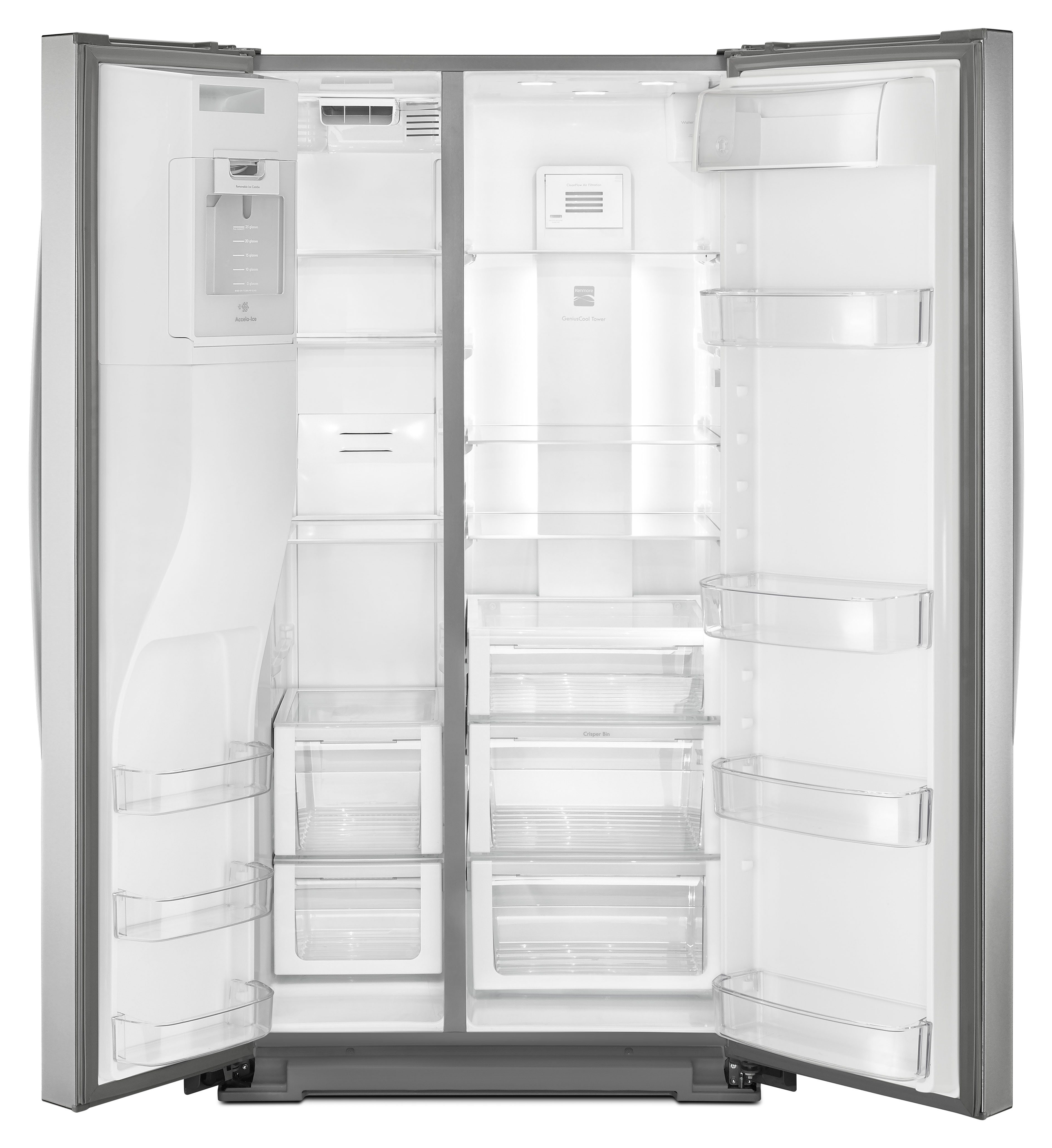 Kenmore 51763 25 cu. ft. Side-by-Side Refrigerator - Stainless Steel