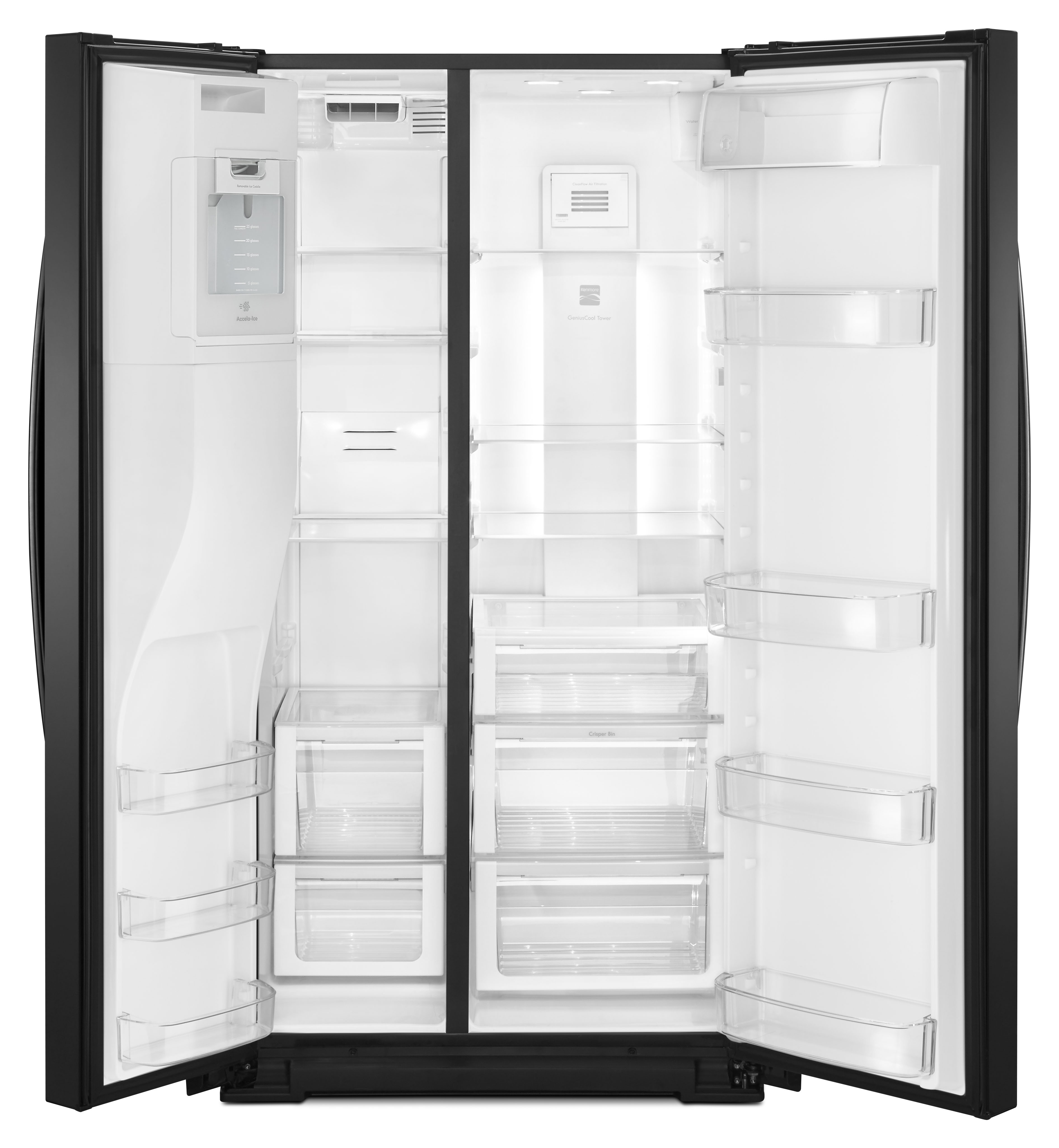 Kenmore 51769 25 cu. ft. Side-by-Side Refrigerator - Black