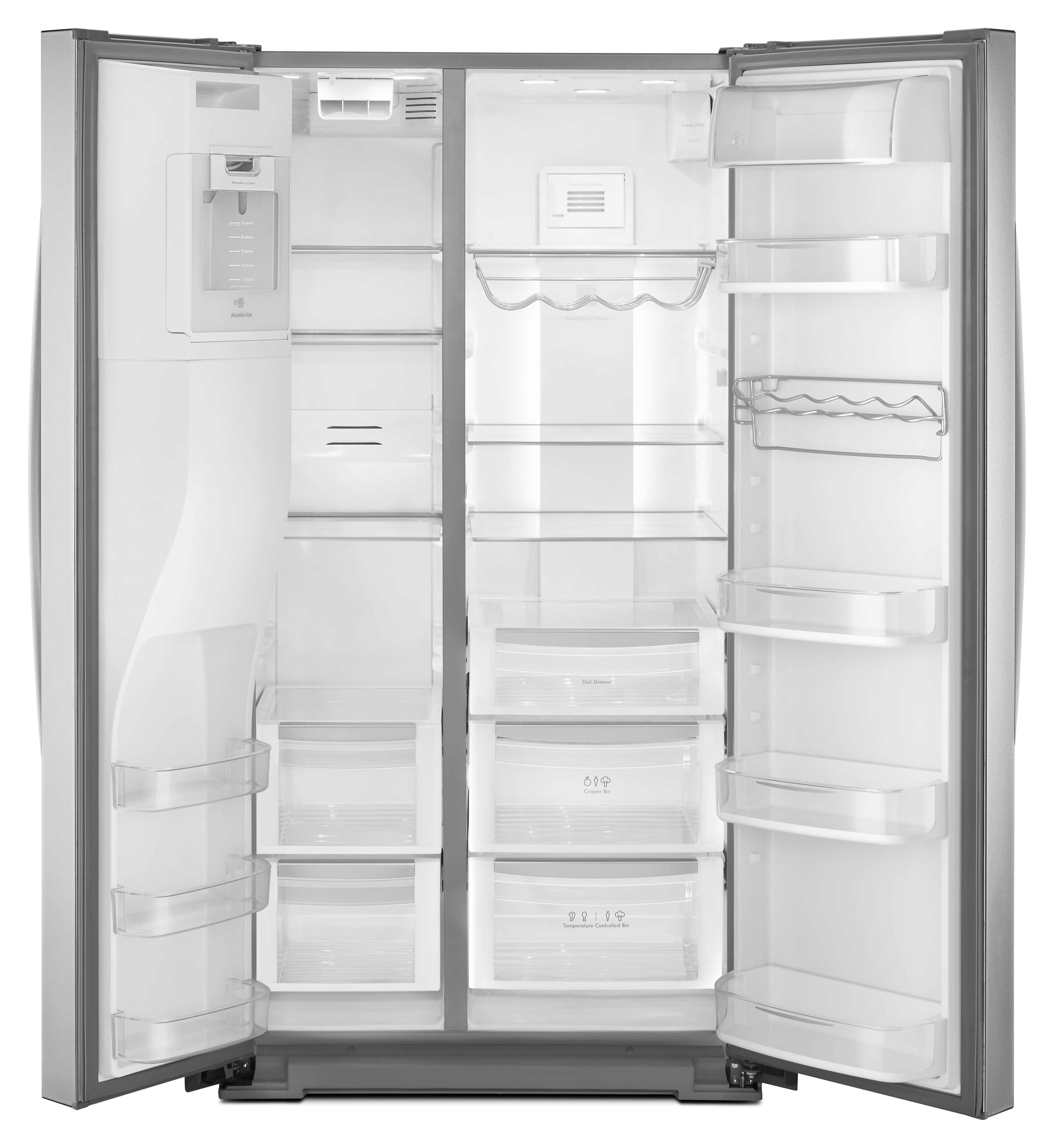 Kenmore Elite 51773 28 cu. ft. Side-by-Side Refrigerator - Stainless Steel