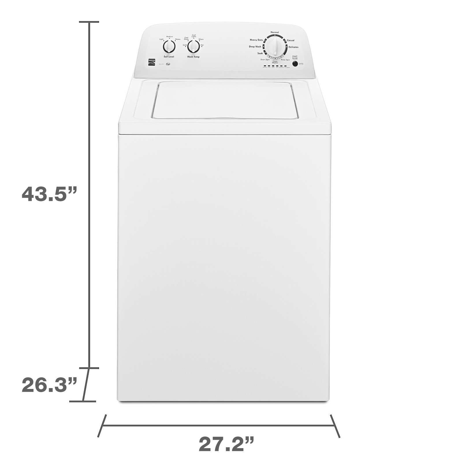 Kenmore 20222 3.3 cu. ft. Top Load Washer - White