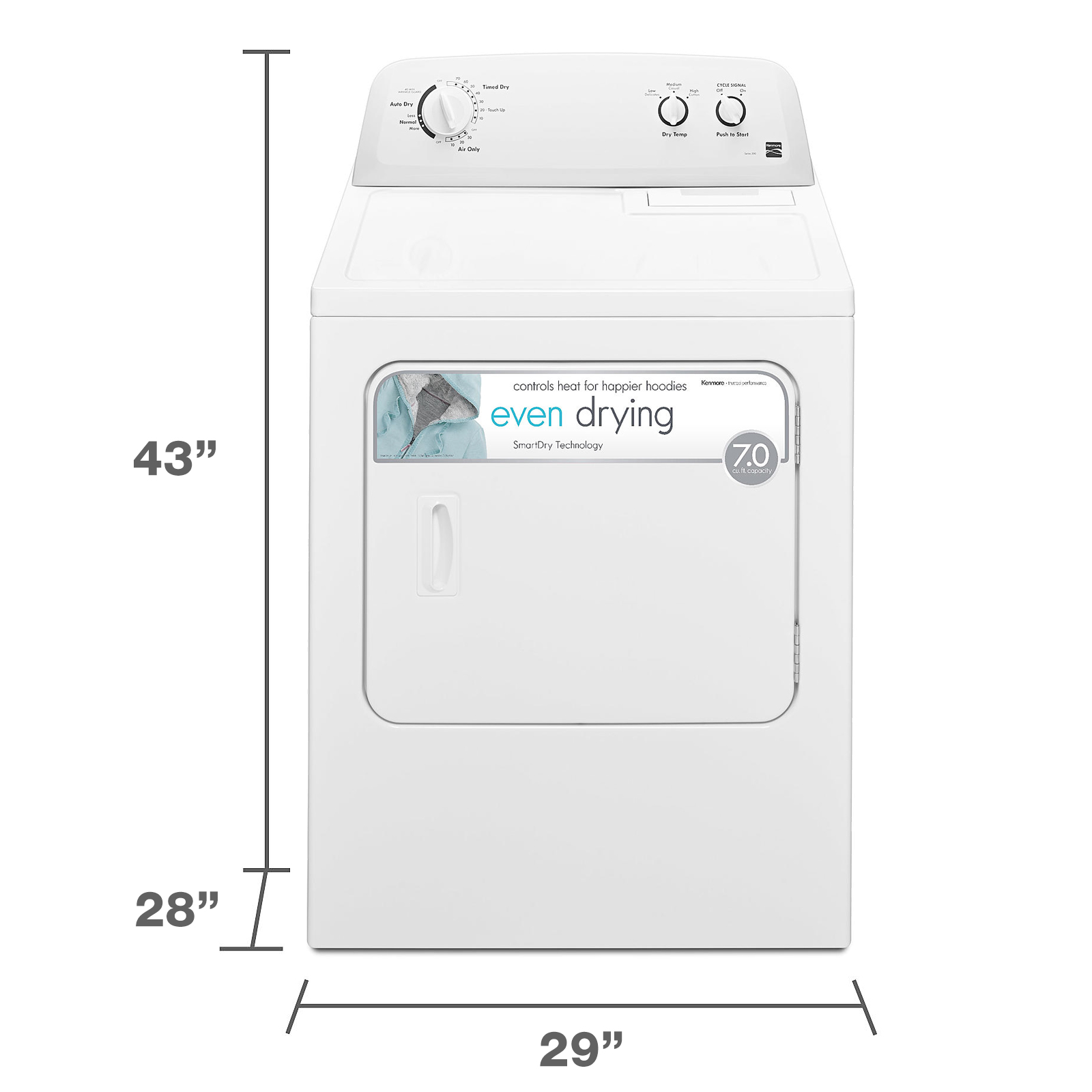 Kenmore 62332 7.0 cu. ft. Electric Dryer - White