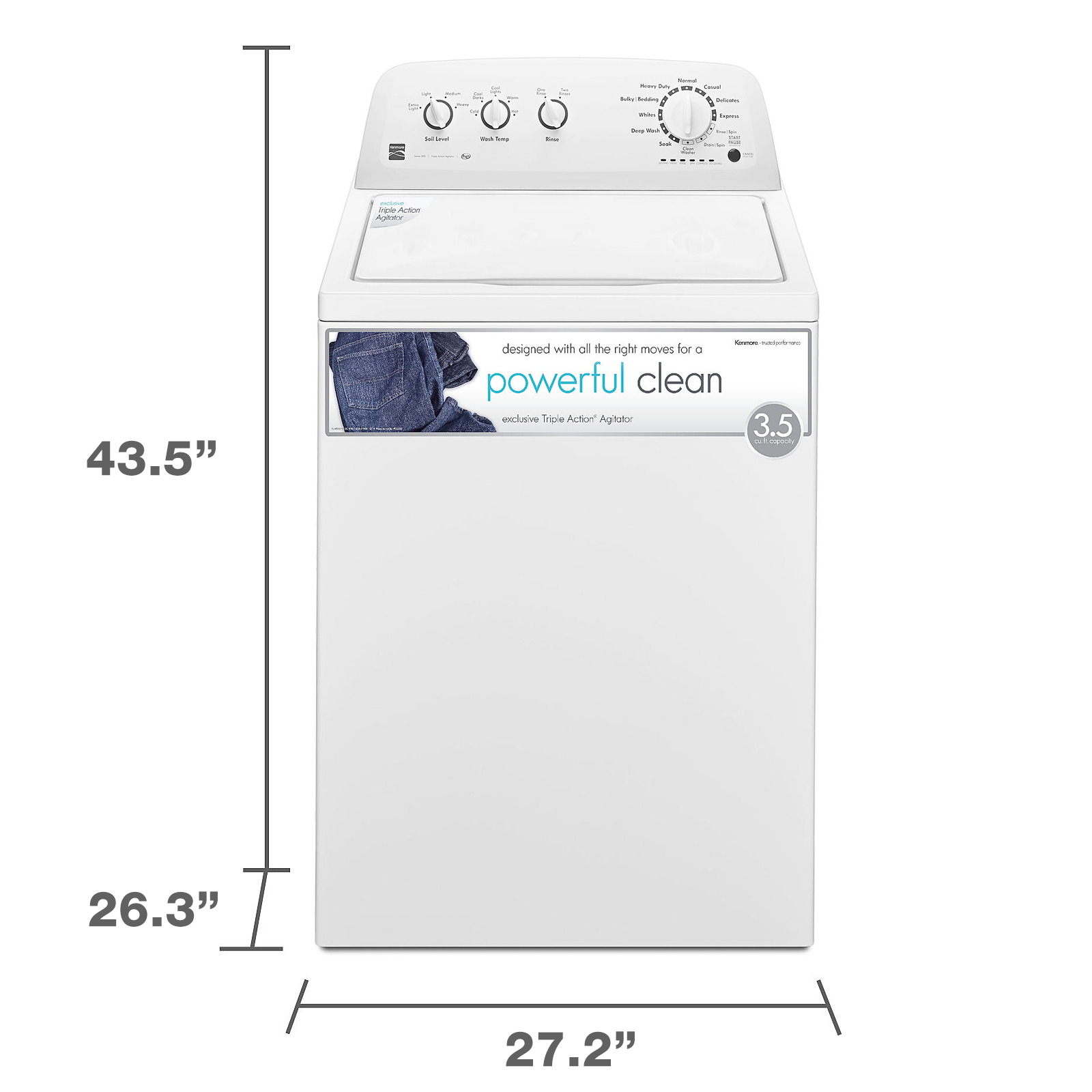Kenmore 22332 3.5 cu. ft. Top Load Washer - White