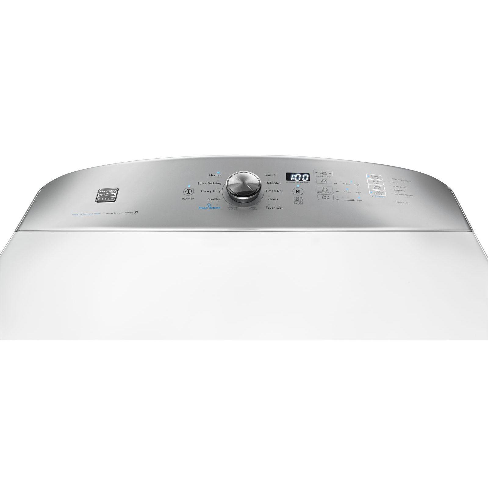 Kenmore Elite 71632 9.2 cu. ft. Gas Dryer w/ SmartDry Ultra Technology – White
