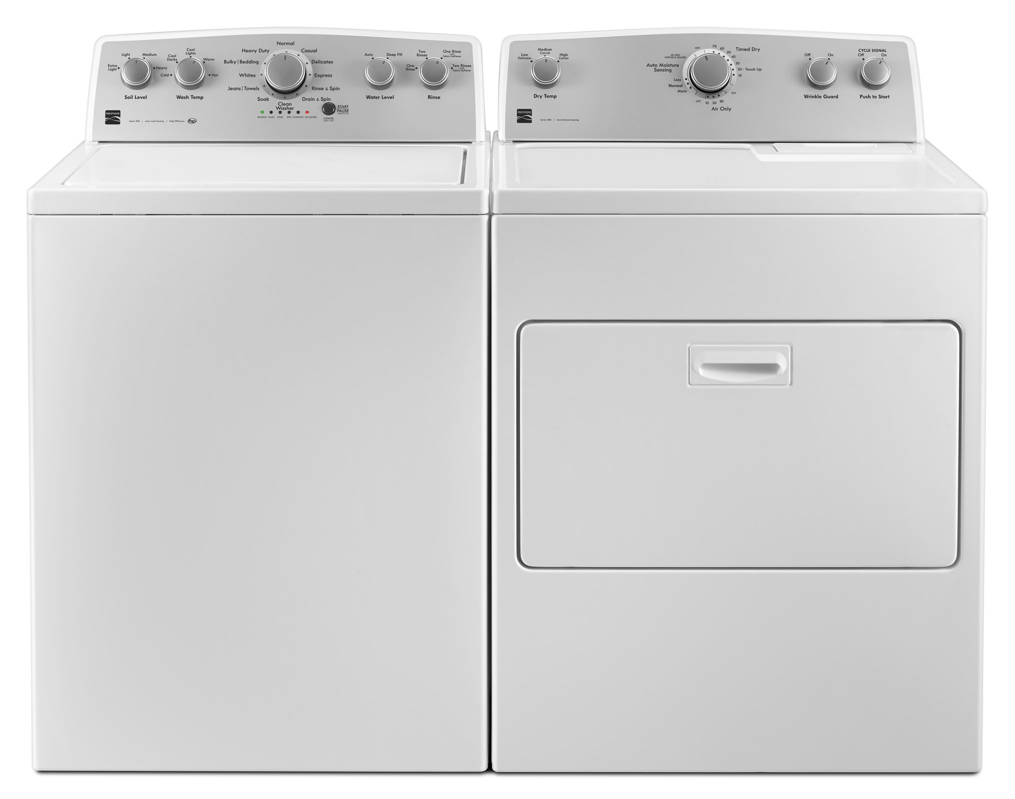 4.2 cu. ft. Top-Load Washer w/ Deep Fill & 7.0 cu. ft. Dryer w/ SmartDry Plus Tech - White