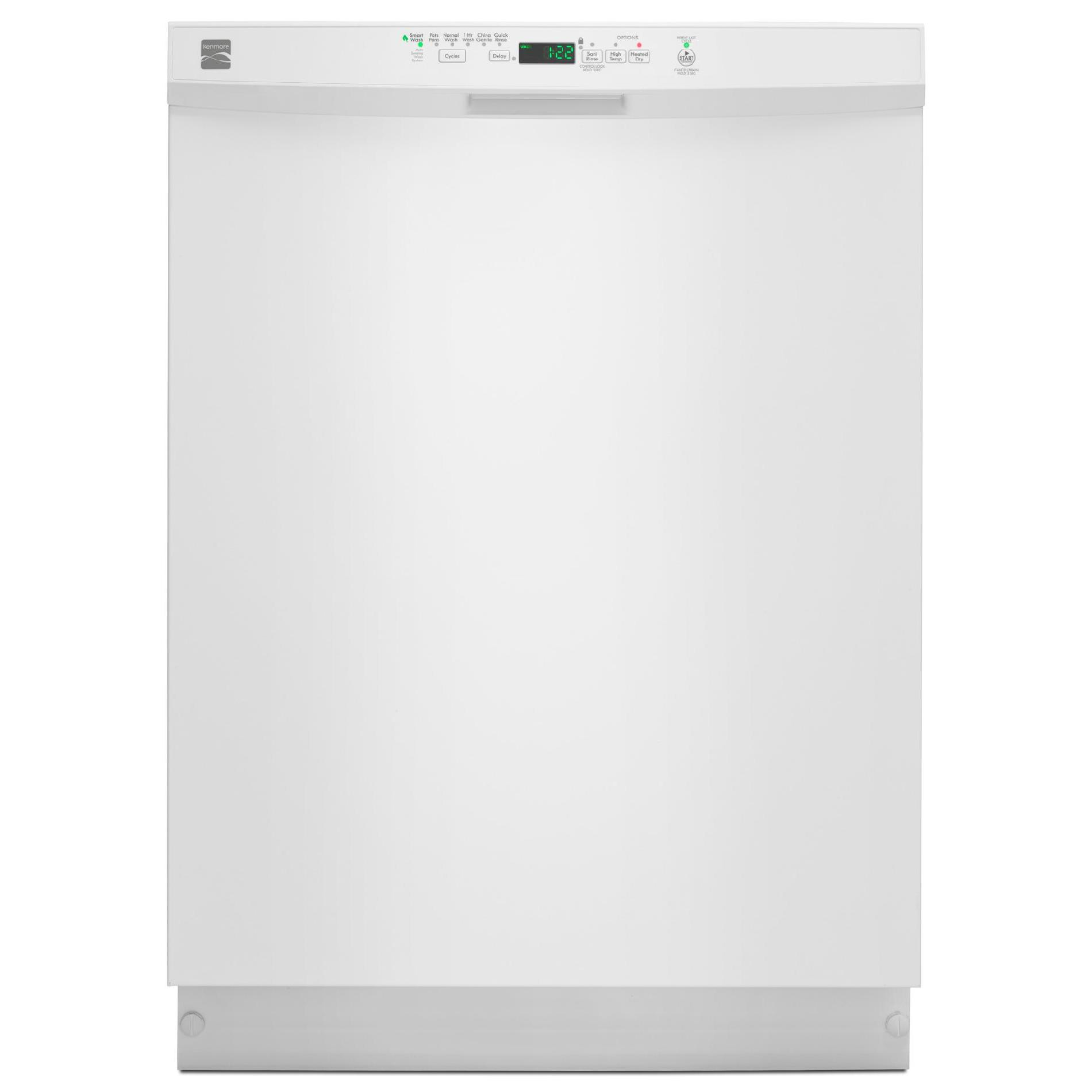 Kenmore 13222 24 Built-In Dishwasher w/ PowerWave™ Spray Arm - White