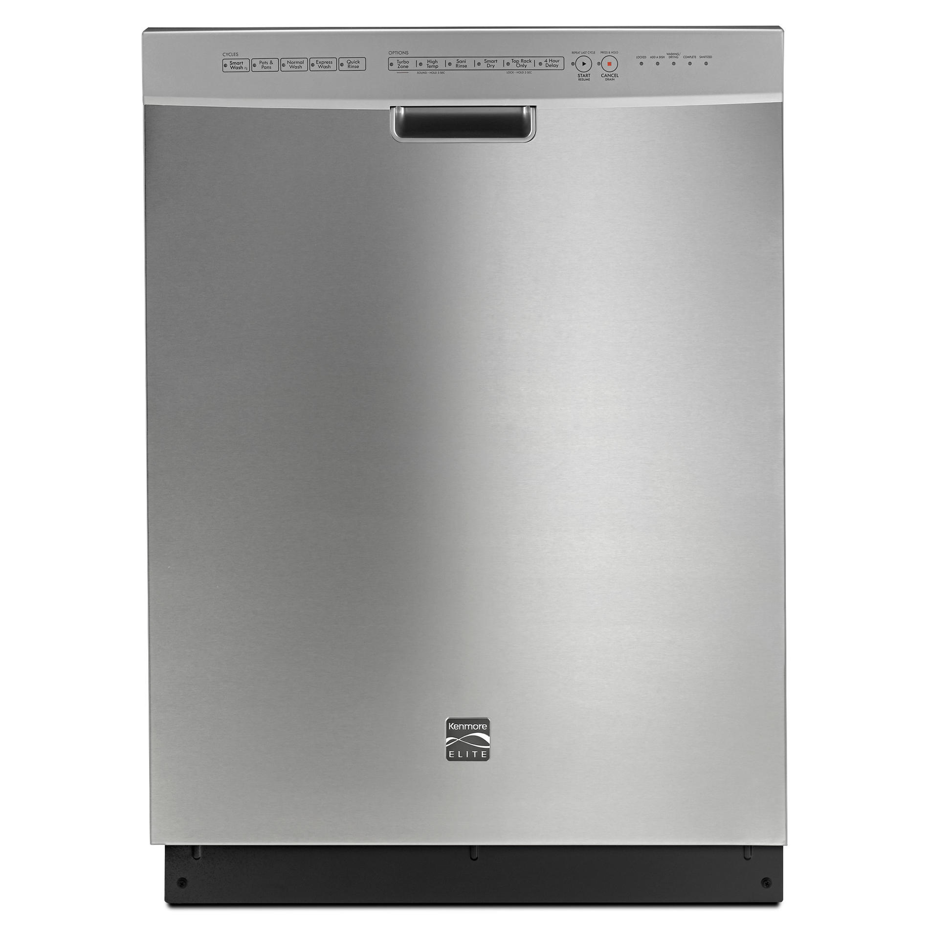 Kenmore Elite 14743 24 Built-In Dishwasher - Stainless Steel