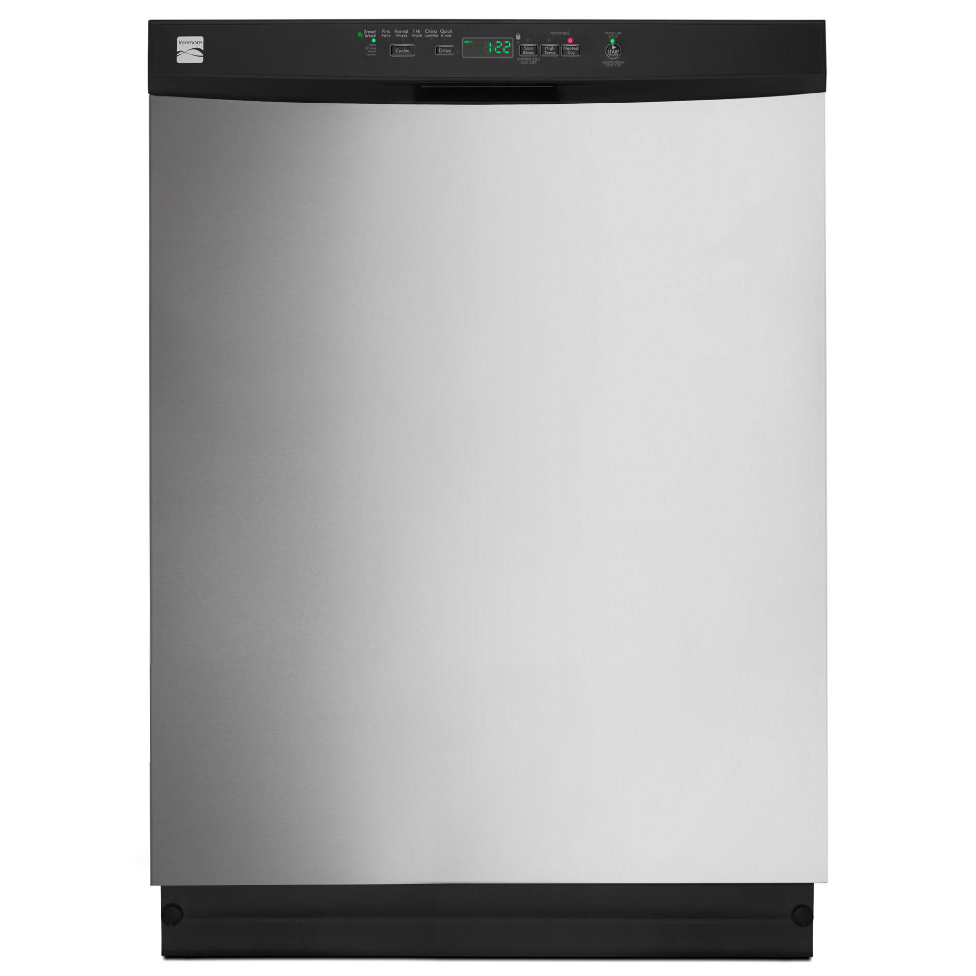 Kenmore 13223 24 Built-In Dishwasher w/ PowerWave™ Spray Arm - Stainless Steel