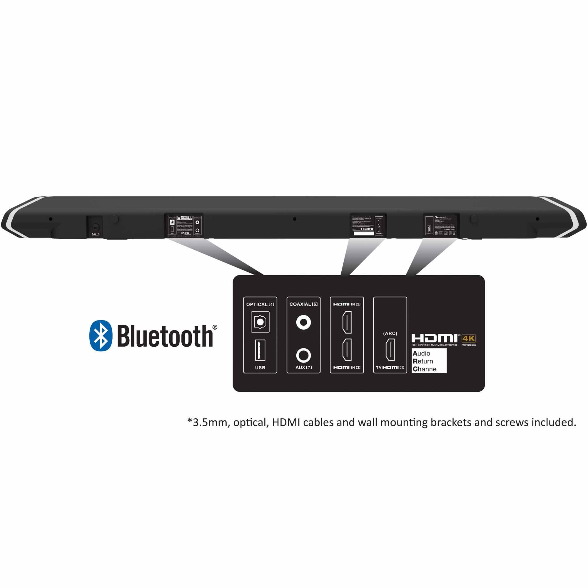 "Nakamichi SHOCKWAFE PRO 7.1 45"" Sound Bar w/ Wireless Subwoofer and Satellite Speakers"