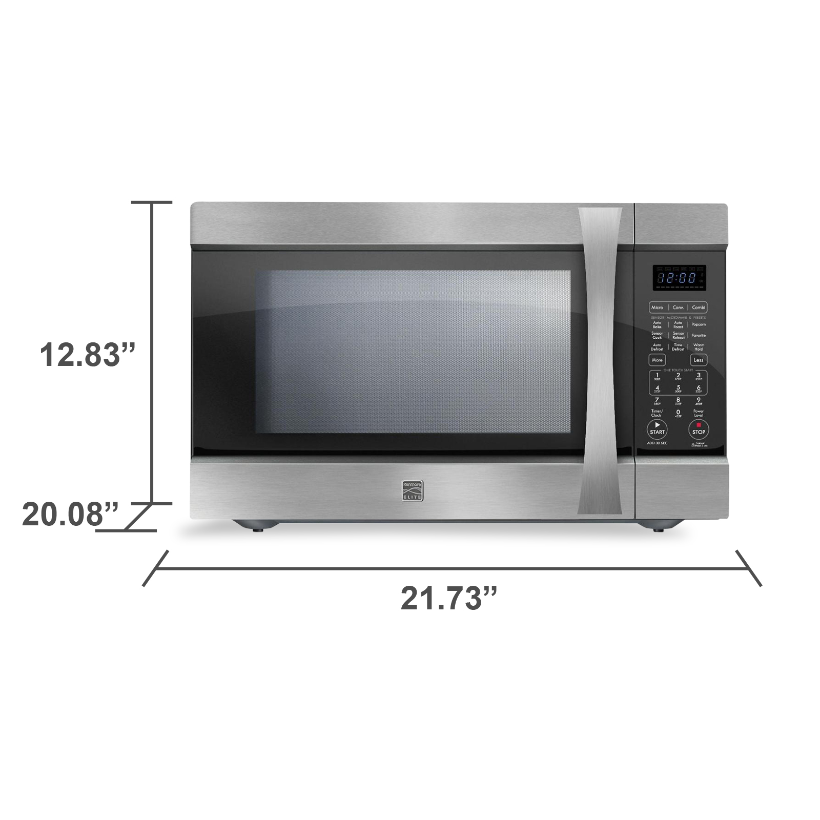 Kenmore Elite EC042A5E 1.5 cu. ft. Countertop Microwave w/ Convection - Stainless Steel