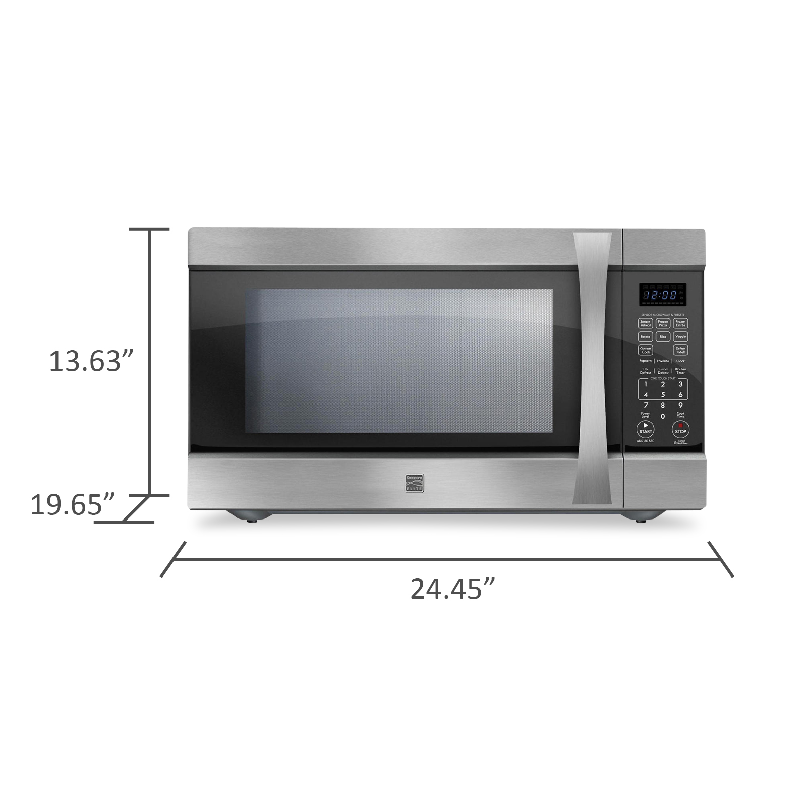 Kenmore Elite 75223 2.2 cu. ft. Countertop Microwave w/ Extra-Large Capacity - Stainless Steel