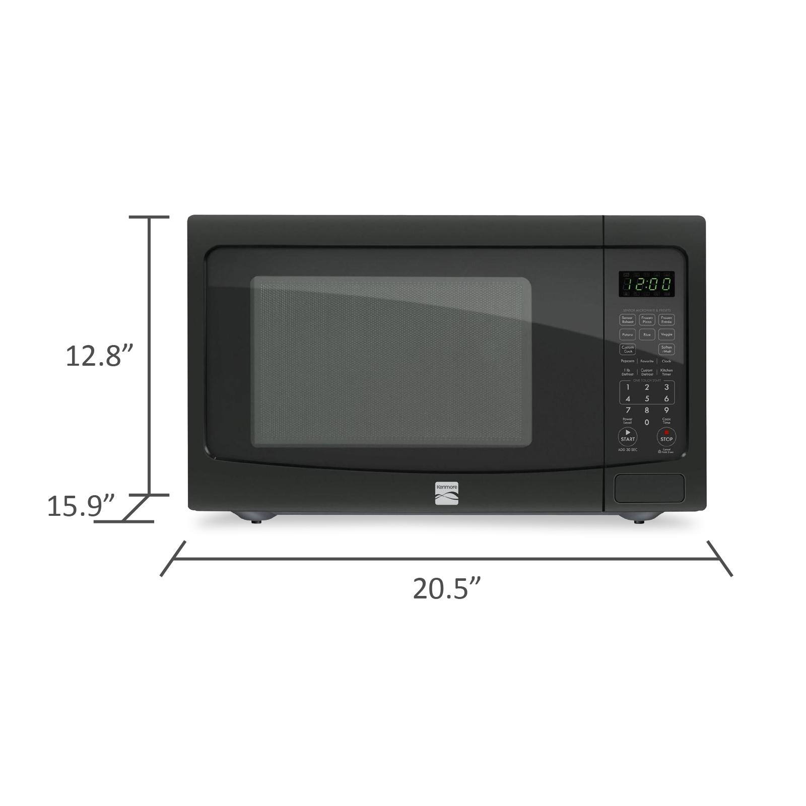 Kenmore 72129 1.2 cu. ft. Countertop Microwave w/ EZ Clean Interior - Black