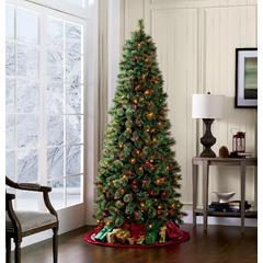 Color Switch Plus 7' Pre-Lit Slim Regal Fir Christmas Tree