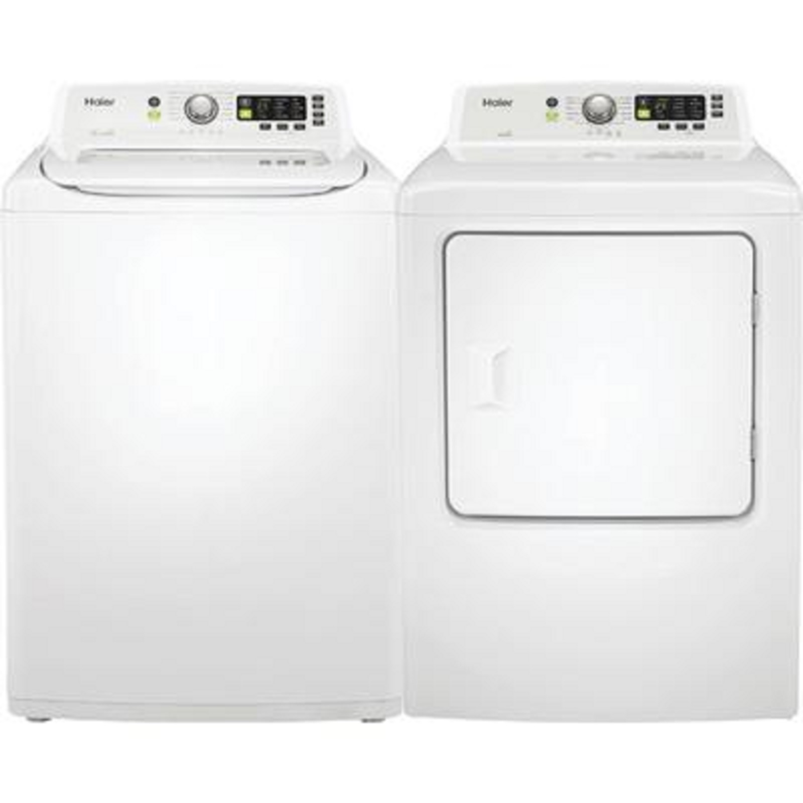 Haier 4.1 cu. ft. Washer and 6.7 cu. ft. Gas Dryer