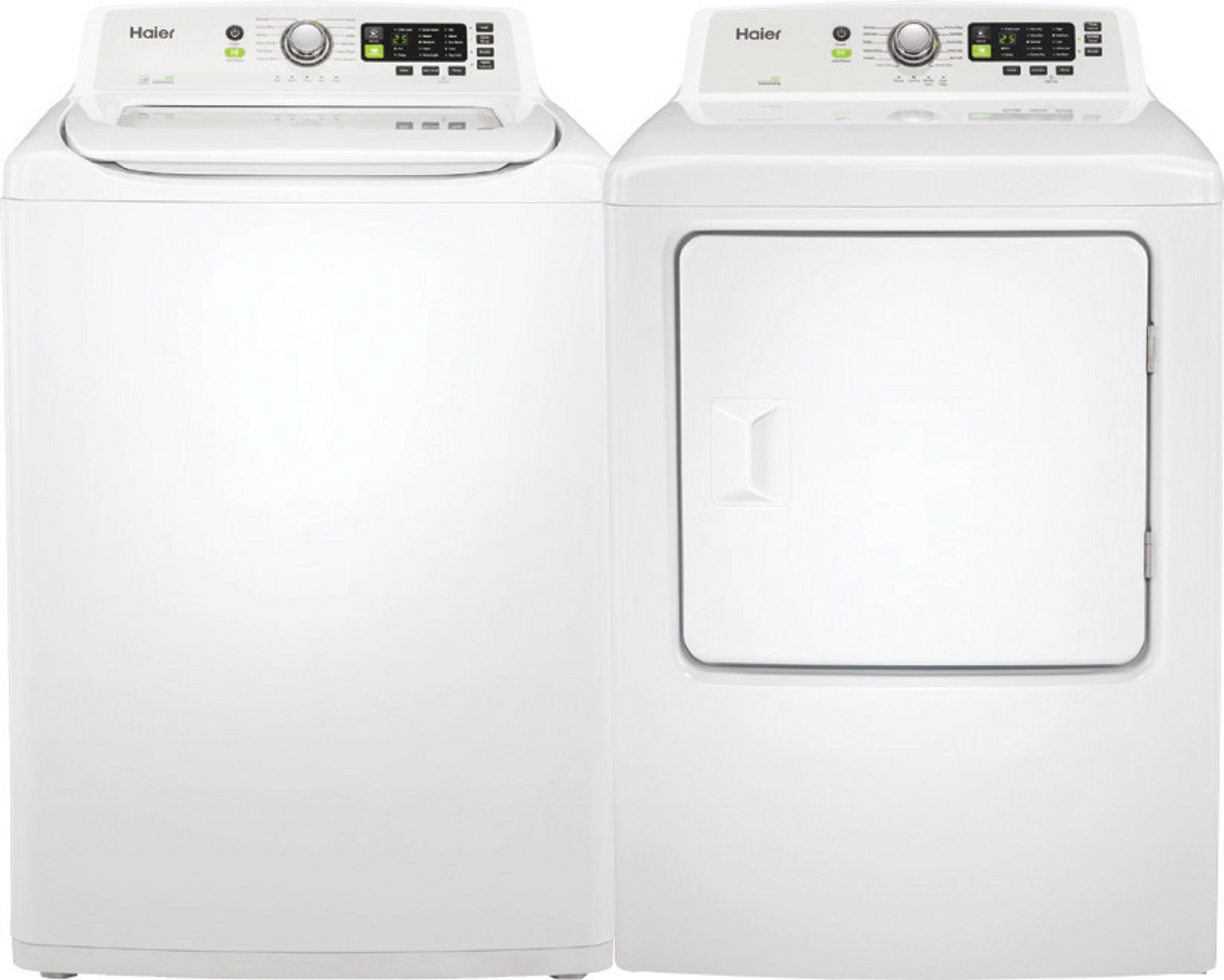 Haier 4.1 cu. ft. Washer and 6.7 cu. ft. Electric Dryer