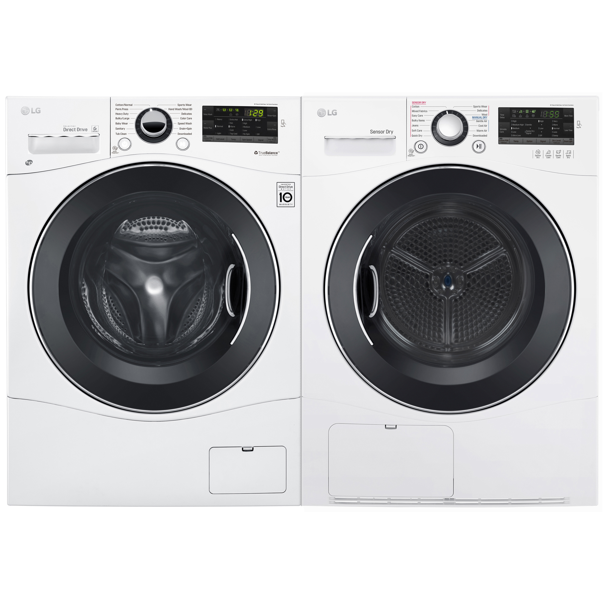 2.2 cu. ft. Compact Front Load Washer & 4.2 cu. ft. Electric Condensing Dryer Bundle - White