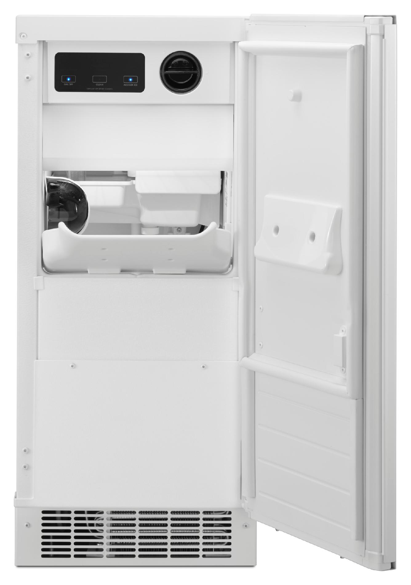"Kenmore 15"" Ice Maker w/ Drain Pump - White"