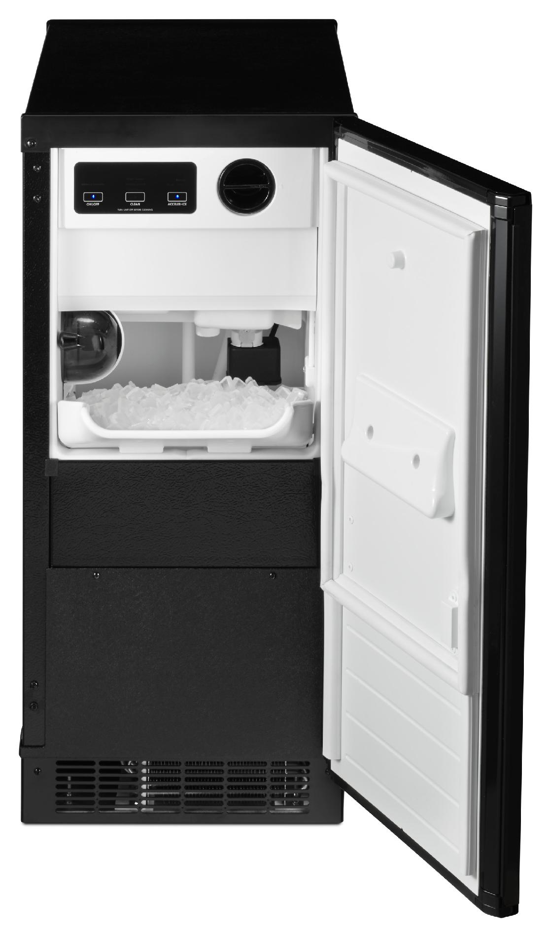 "Kenmore 89599 15"" Ice Maker w/ Drain Pump - Black"