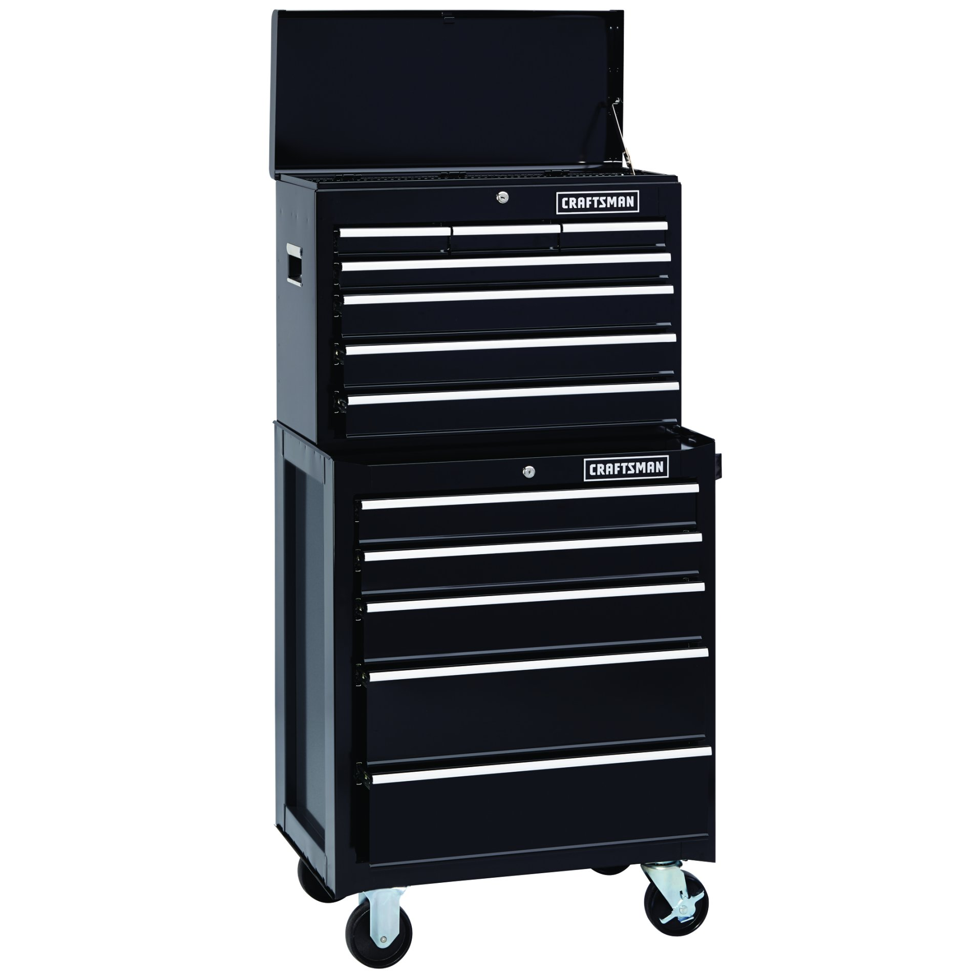 Craftsman 12-Drawer Heavy-Duty Ball Bearing Combo - Black