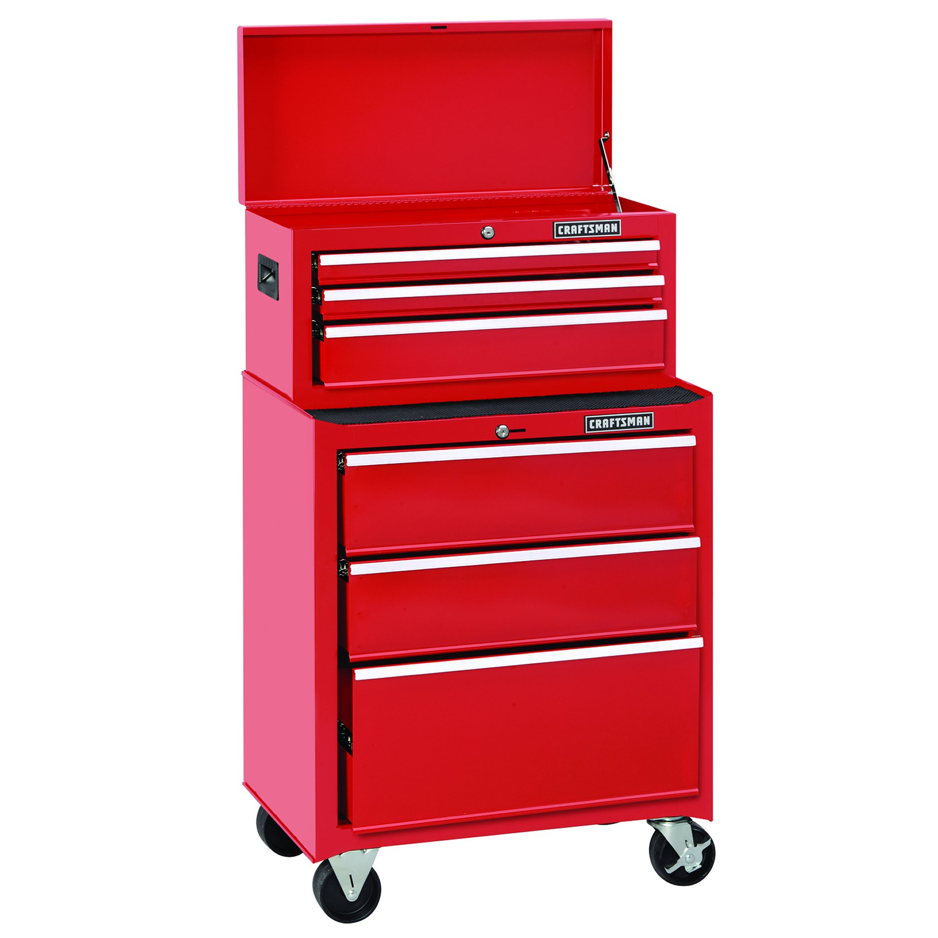 Craftsman 26 in. Wide 3-Drawer Standard Duty Ball-Bearing Top Chest - Red