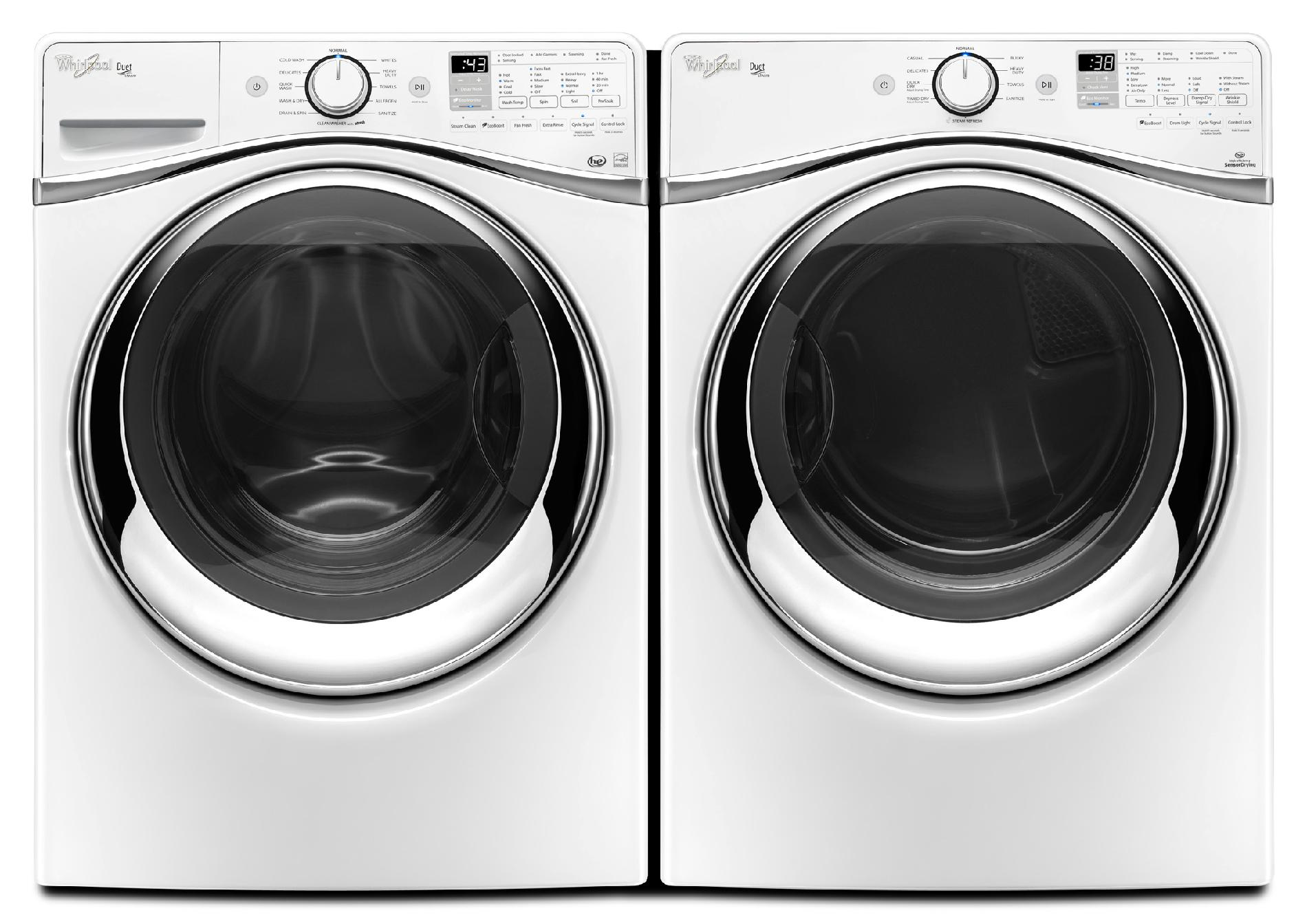 Whirlpool 4.5 cu. ft. Duet® Front-Load Washer w/ Wash and Dry Cycle - White
