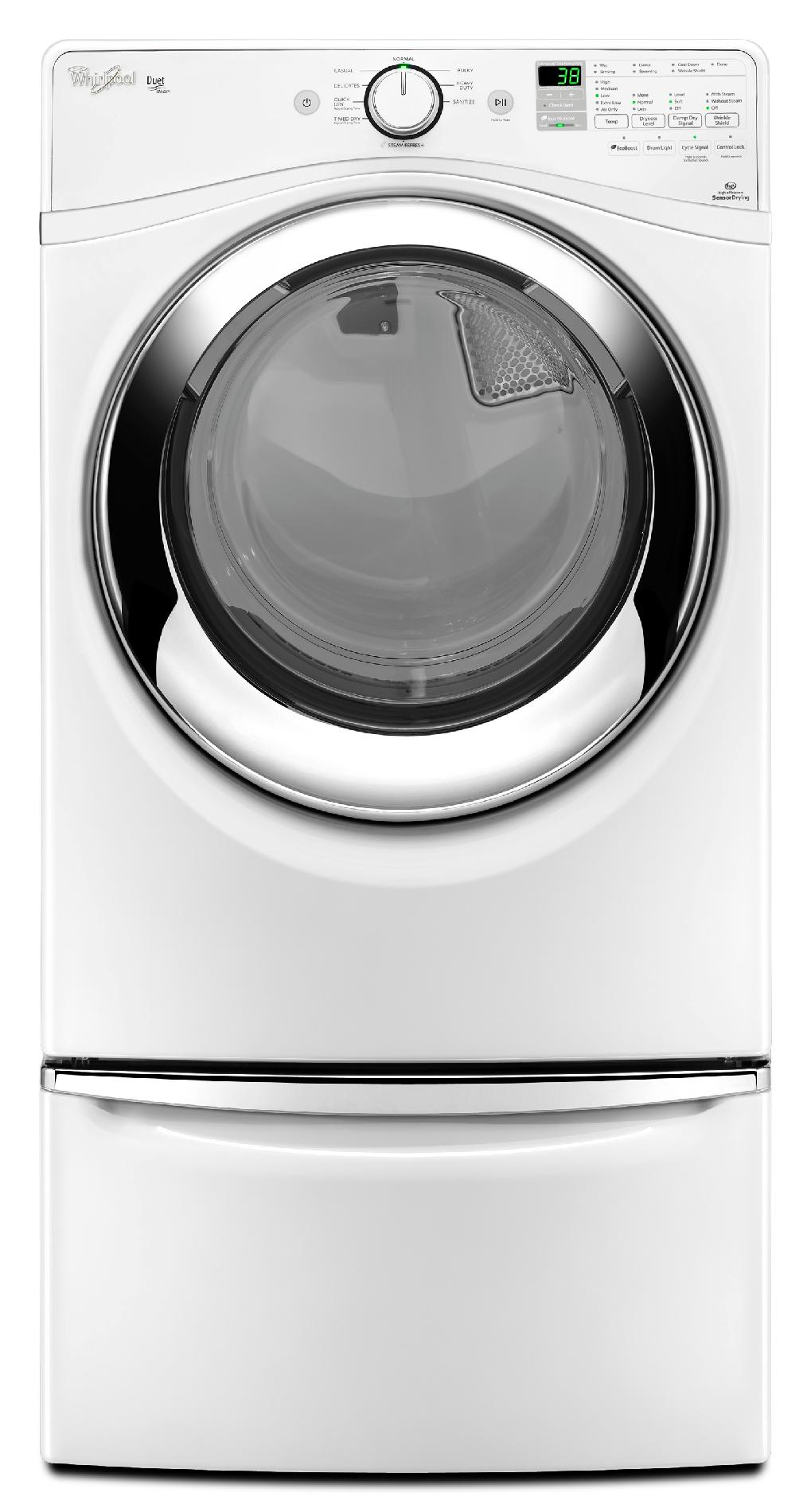 Whirlpool WGD87HEDW 7.4 cu. ft. Duet® Gas Dryer w/ Steam Refresh - White