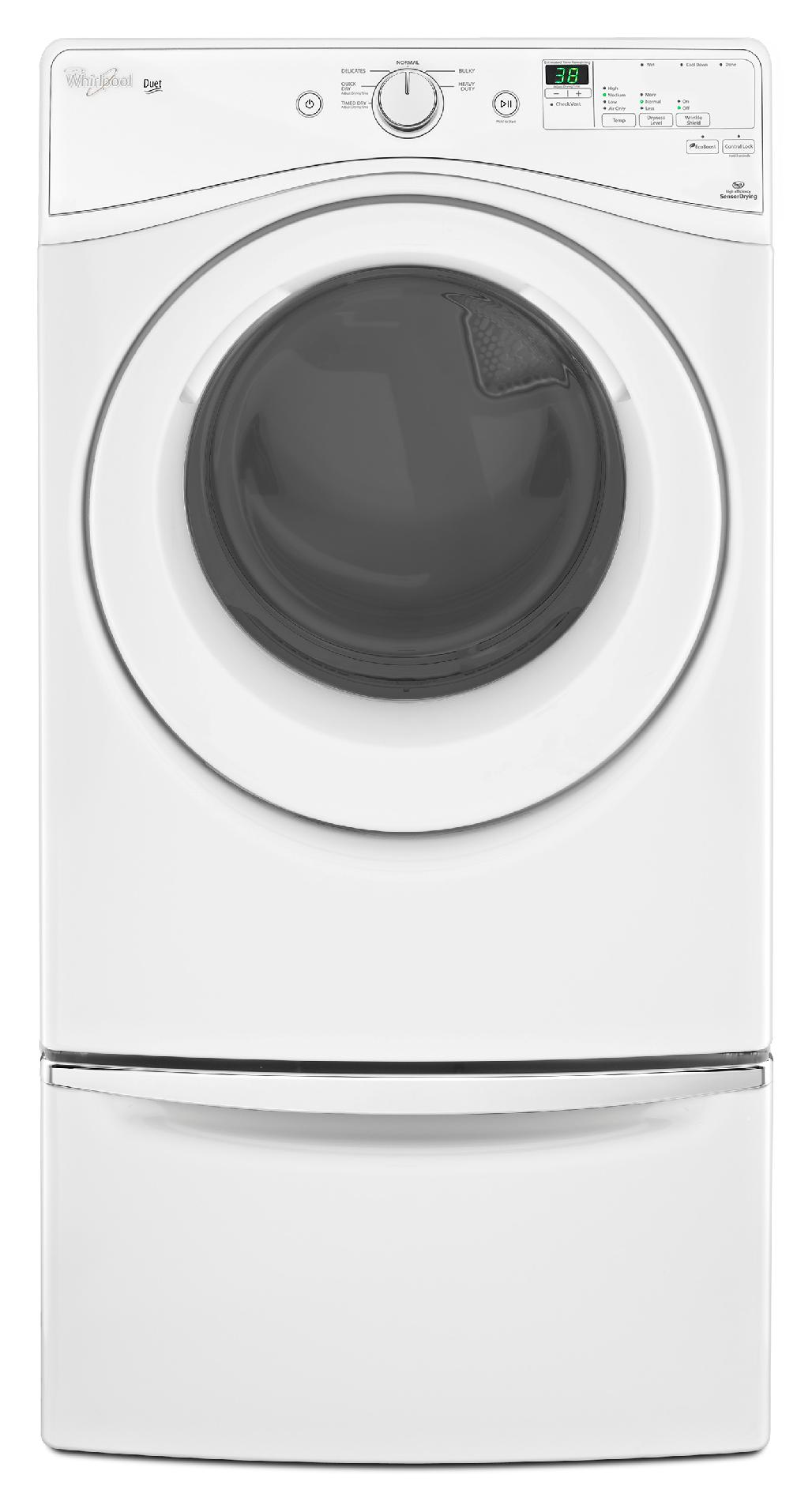 Whirlpool WGD72HEDW 7.4 cu. ft. Duet® Gas Dryer w/ EcoBoost™ - White