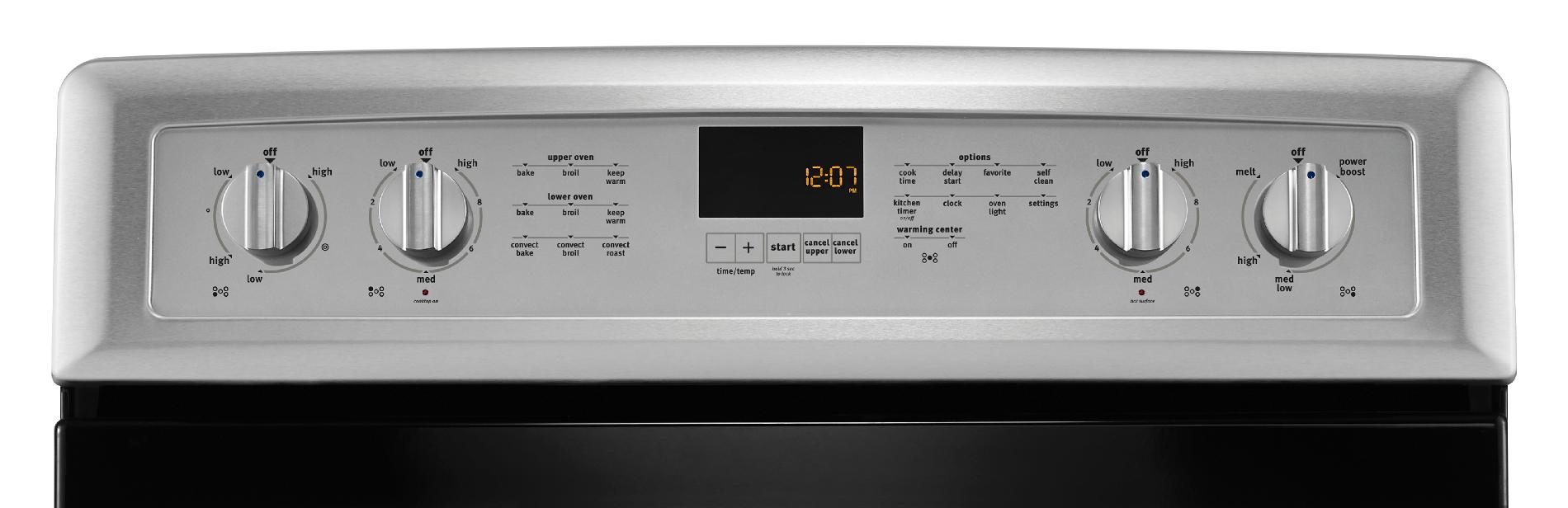 Maytag MET8820DS Gemini® 6.7 cu. ft. Double-Oven Electric Range w/Convection - Stainless Steel