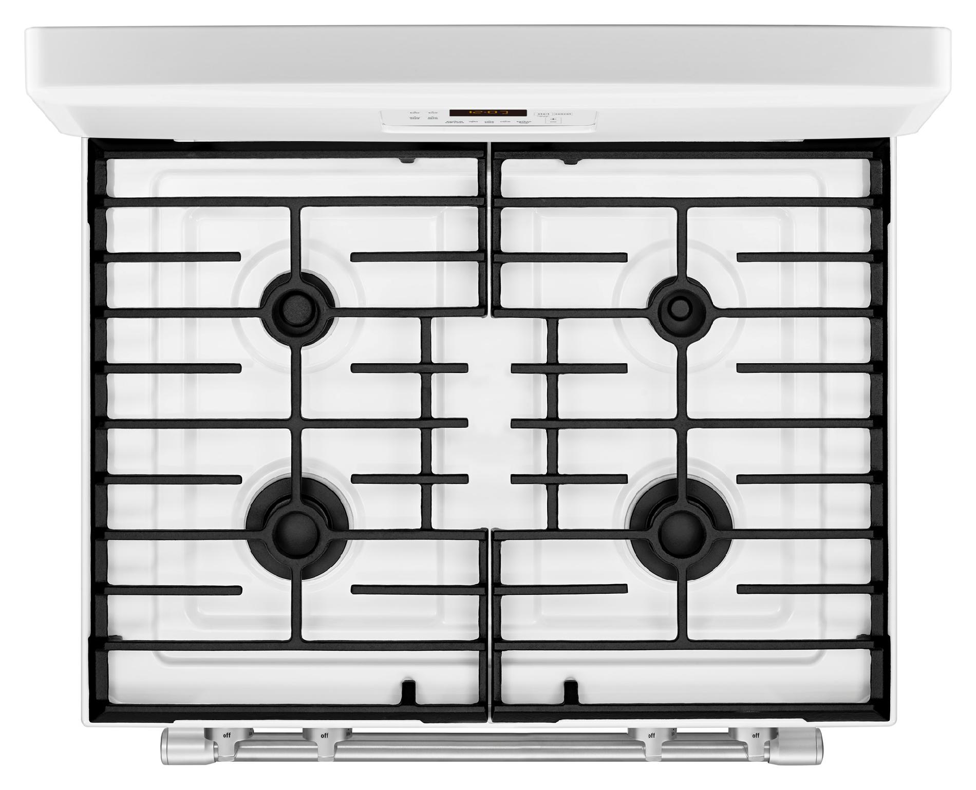 Maytag MGR8600DH 5.8 cu. ft. Gas Range w/ Power Burner - White w/ Stainless Handle