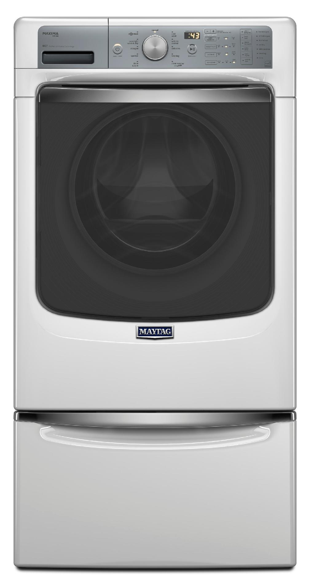 Maytag 4.5 cu. ft. Maxima® Front-Load Washer w/ Wash and Dry Cycle - White