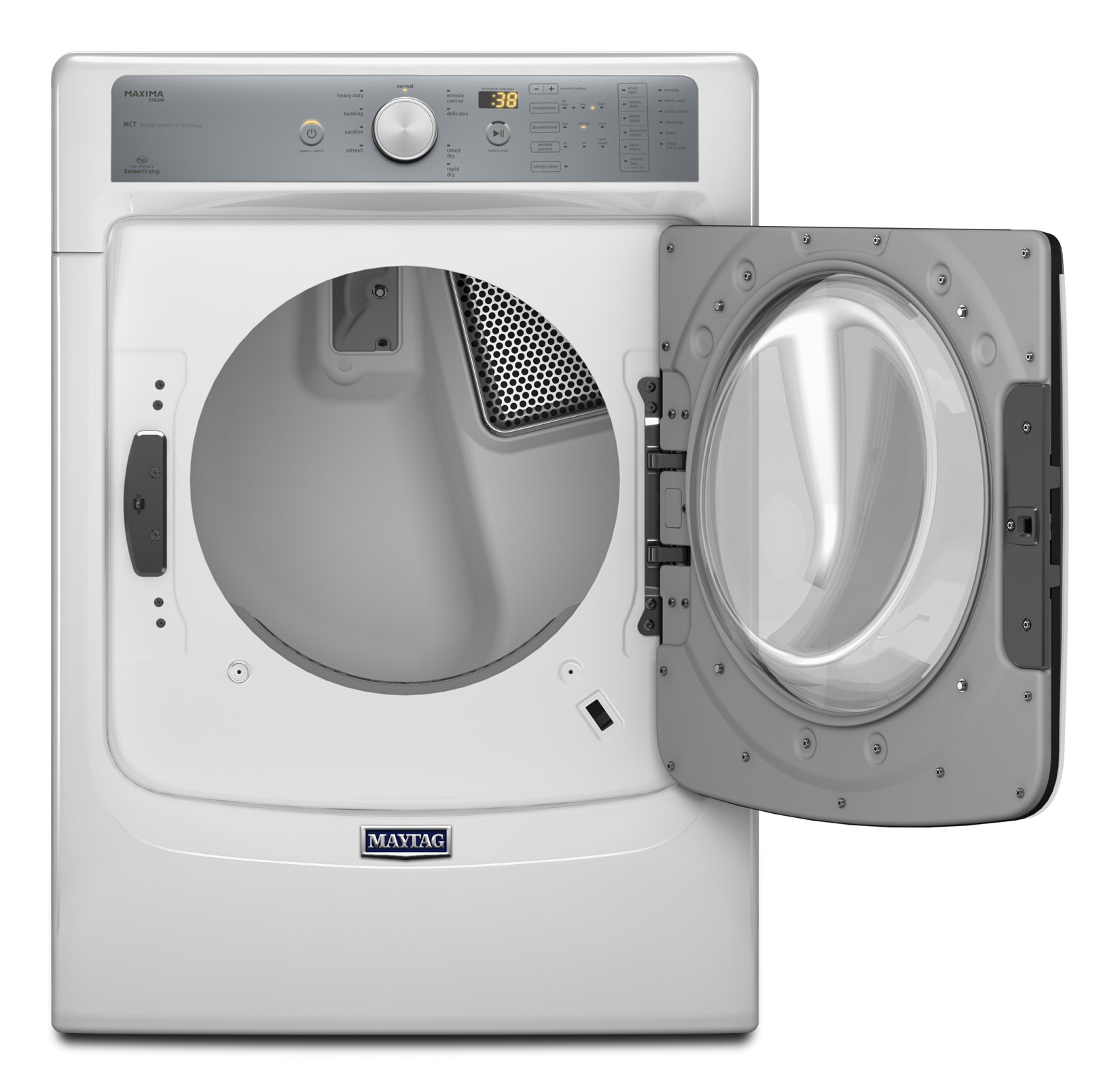 Maytag 7.4 cu. ft. Maxima® Gas Dryer w/ Stainless Steel Drum - White