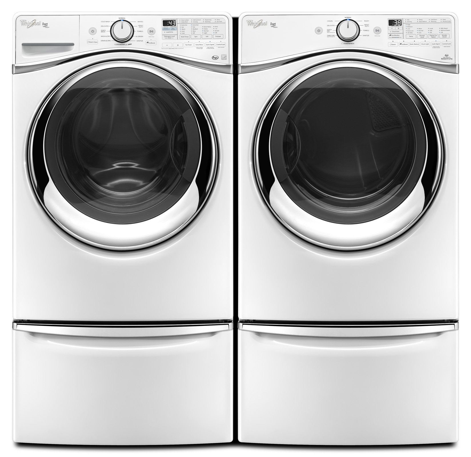 Whirlpool WFW97HEDW 4.5 cu. ft. Duet® Front-Load Washer w/ Load and Go System - White